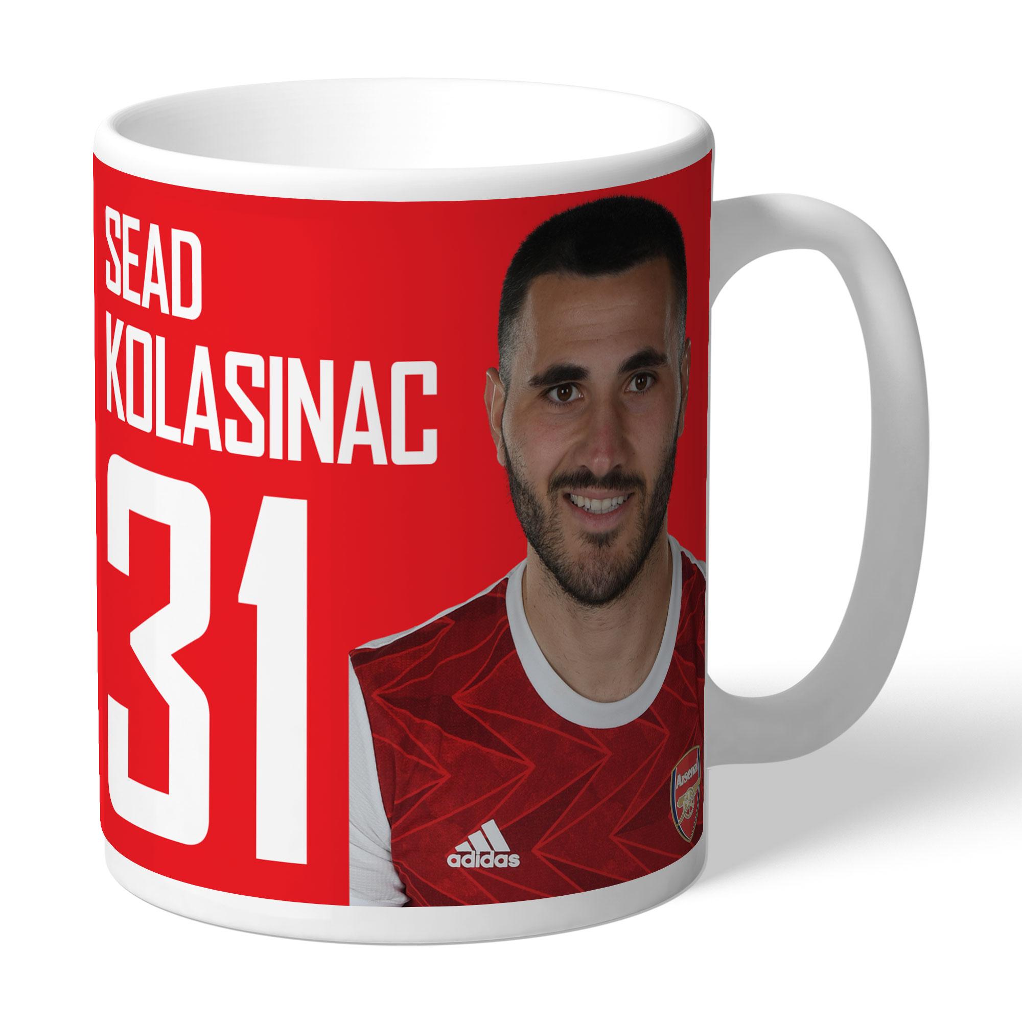 Arsenal FC Kolasinac Autograph Mug