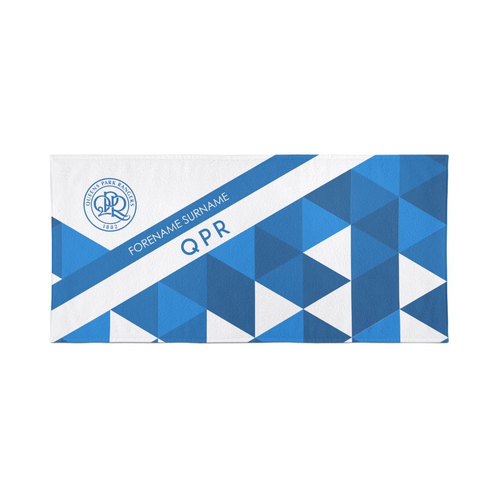 QPR Personalised Towel - Geometric Design - 80 x 160