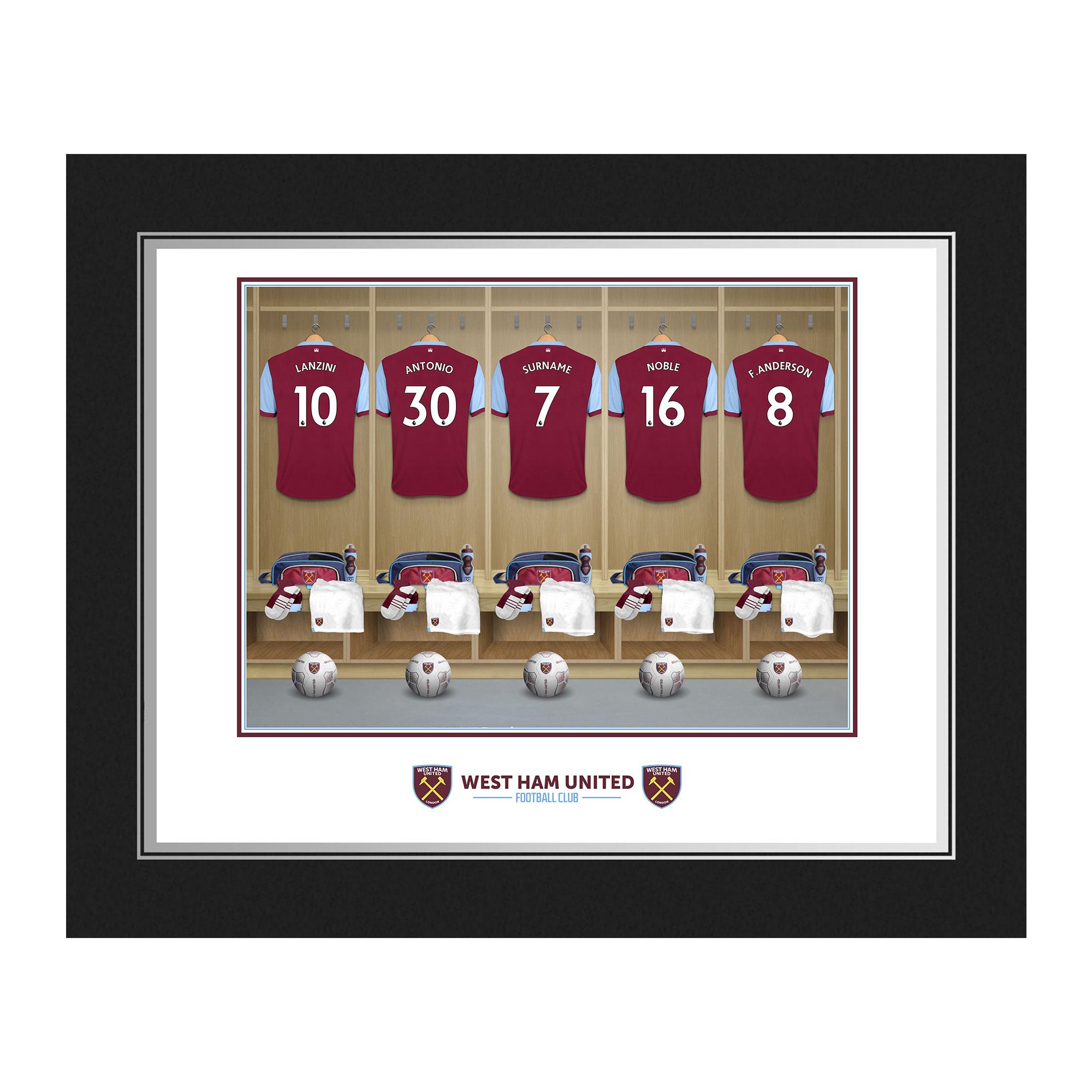 West Ham United FC Dressing Room Photo Folder