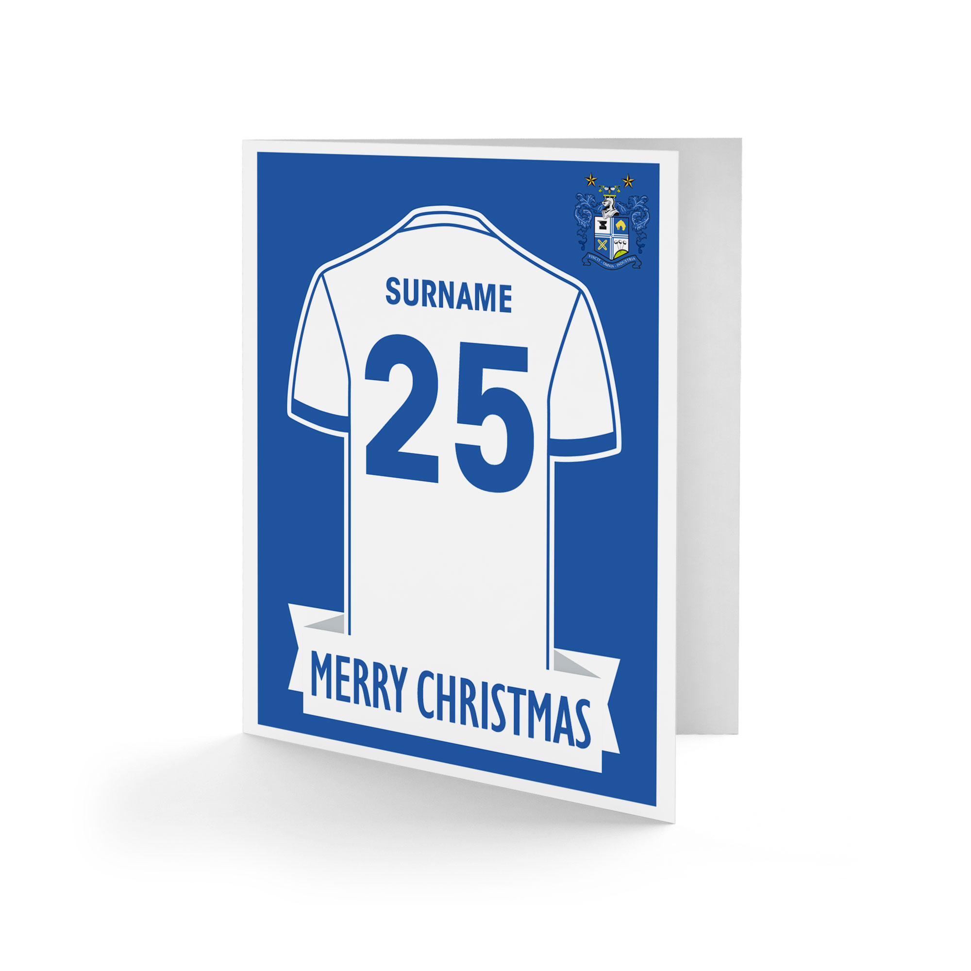 Bury FC Shirt Christmas Card