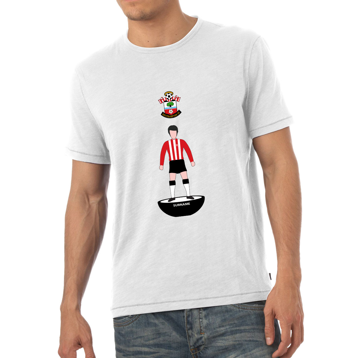 Southampton FC Player Figure Mens T-Shirt