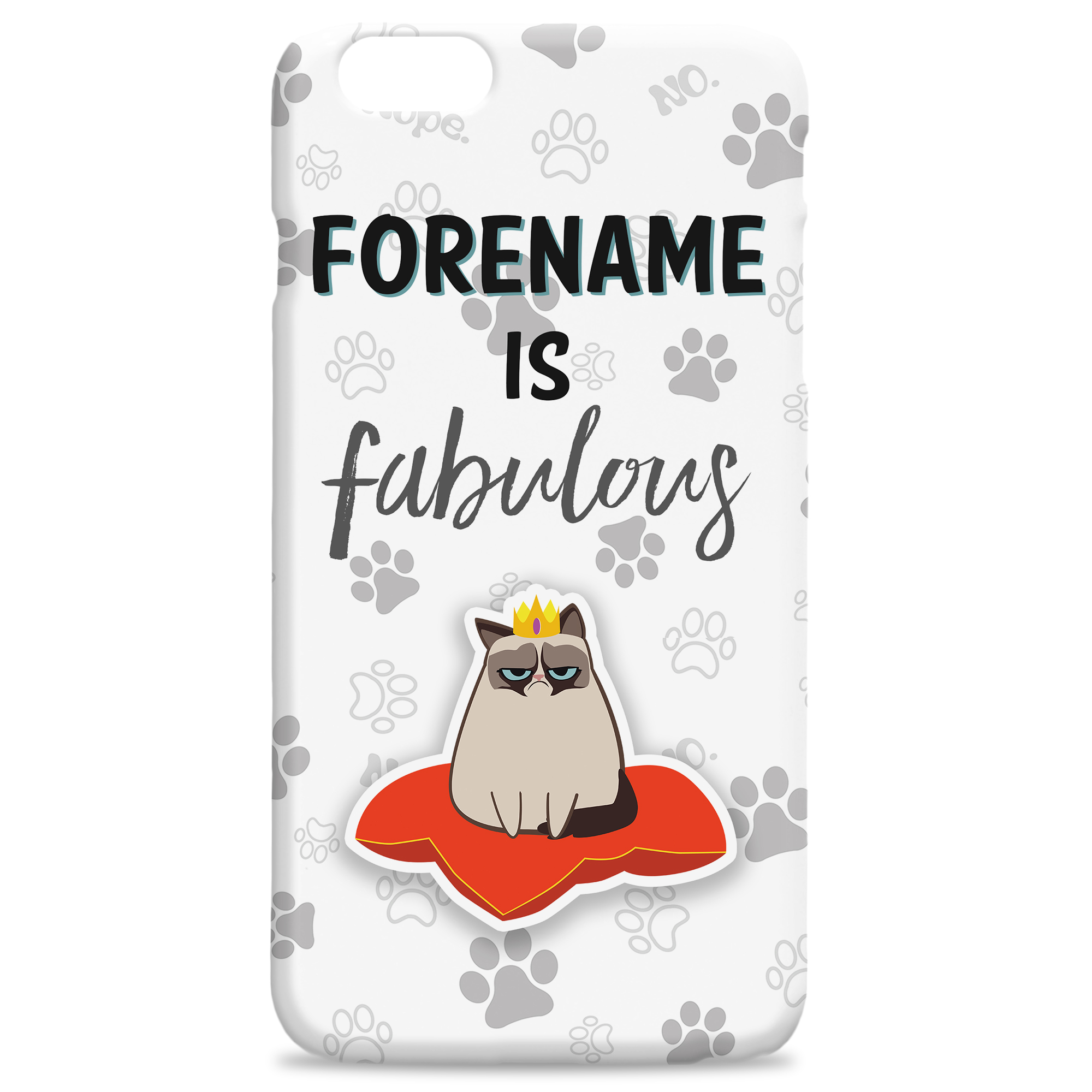 Grumpy Cat Emoji - Fabulous iphone Case Grey