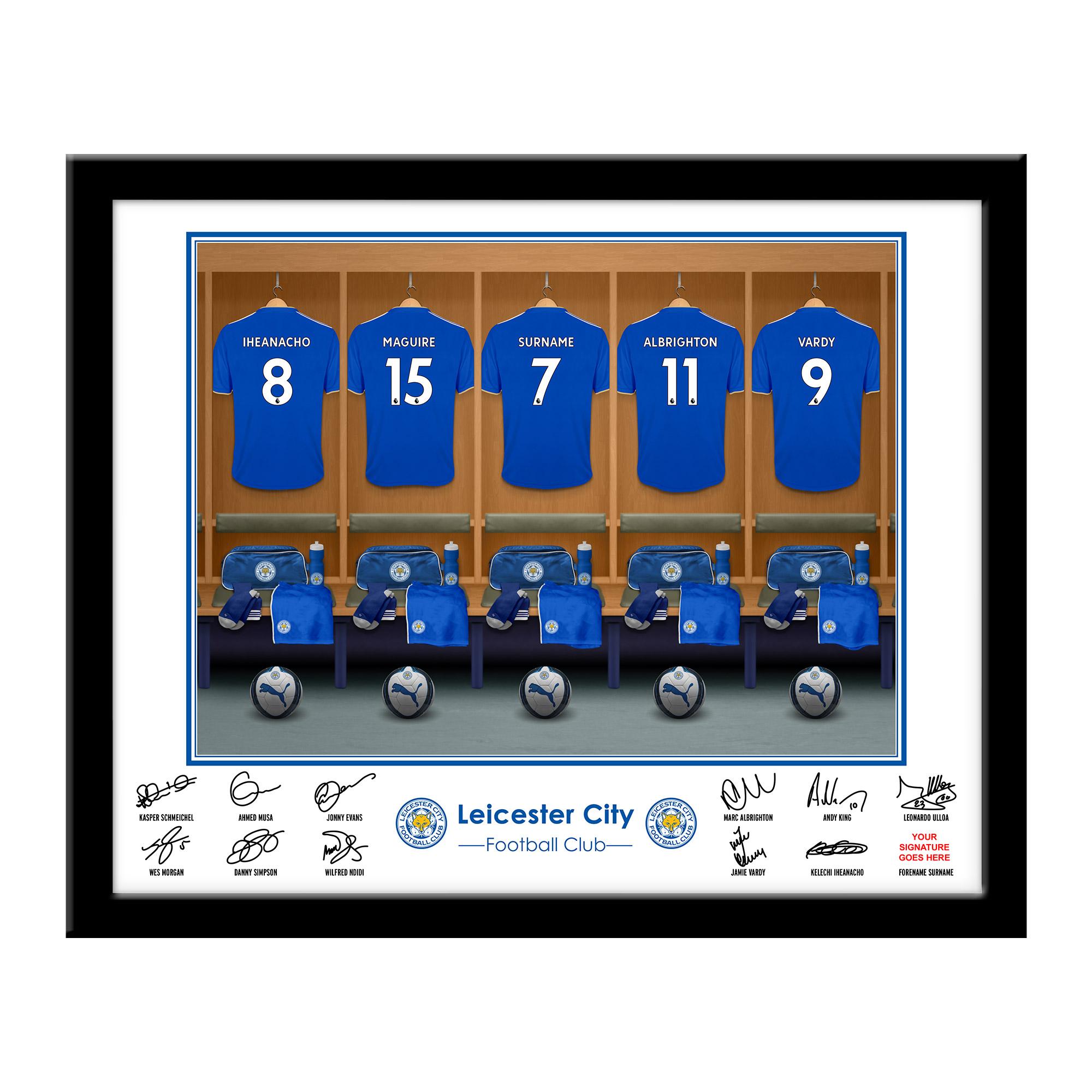 Leicester City FC Dressing Room Framed Print