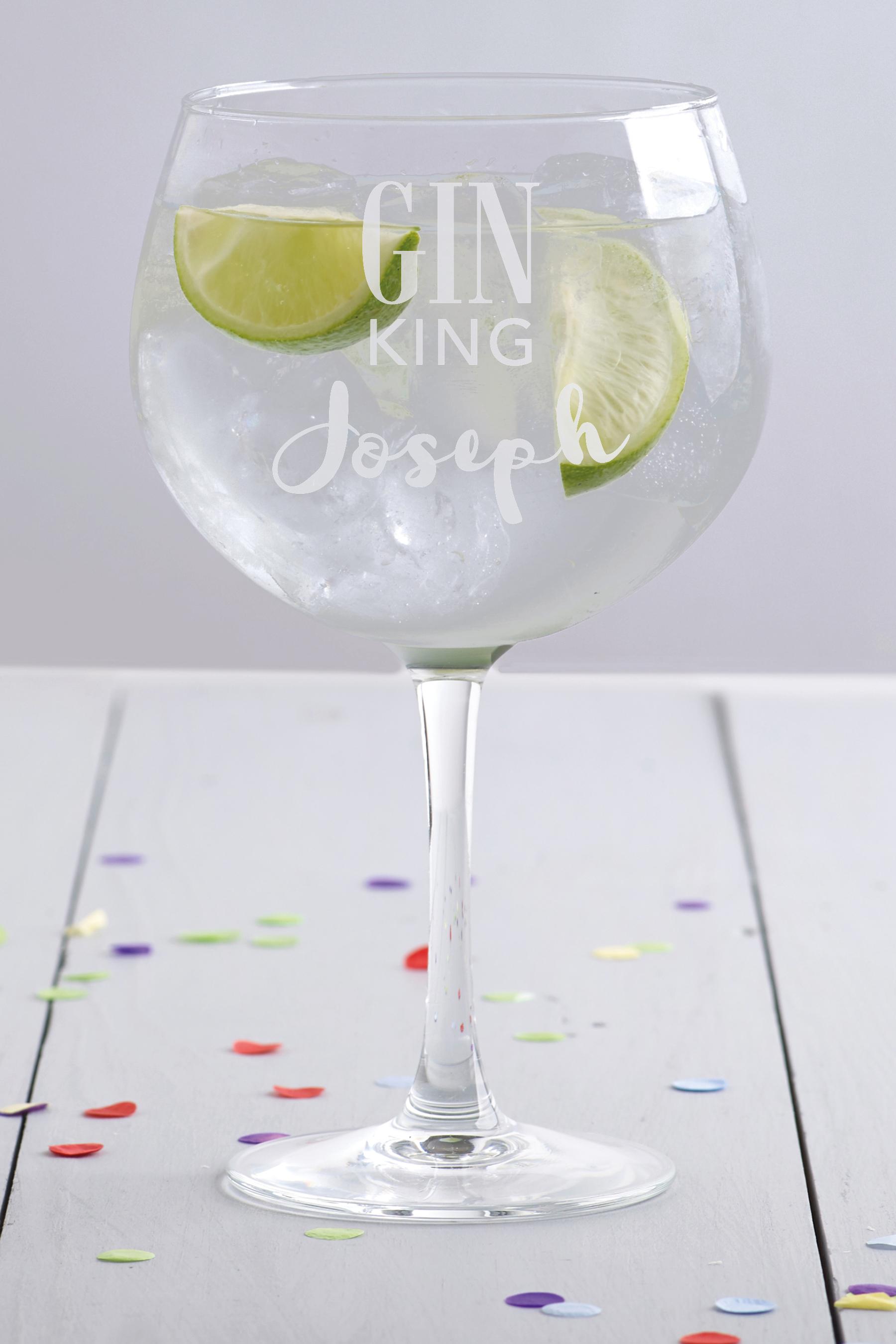 Gin King Gin Glass