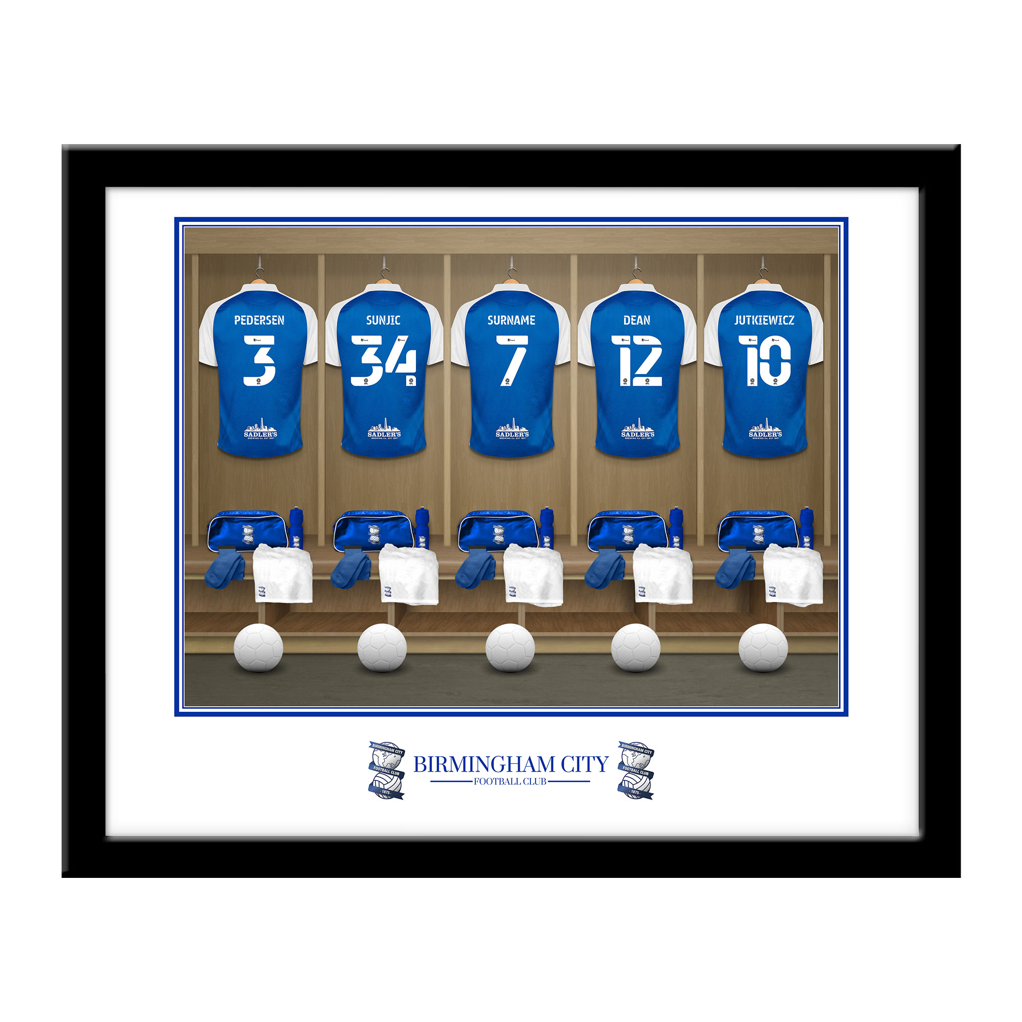 Birmingham City FC Dressing Room Framed Print