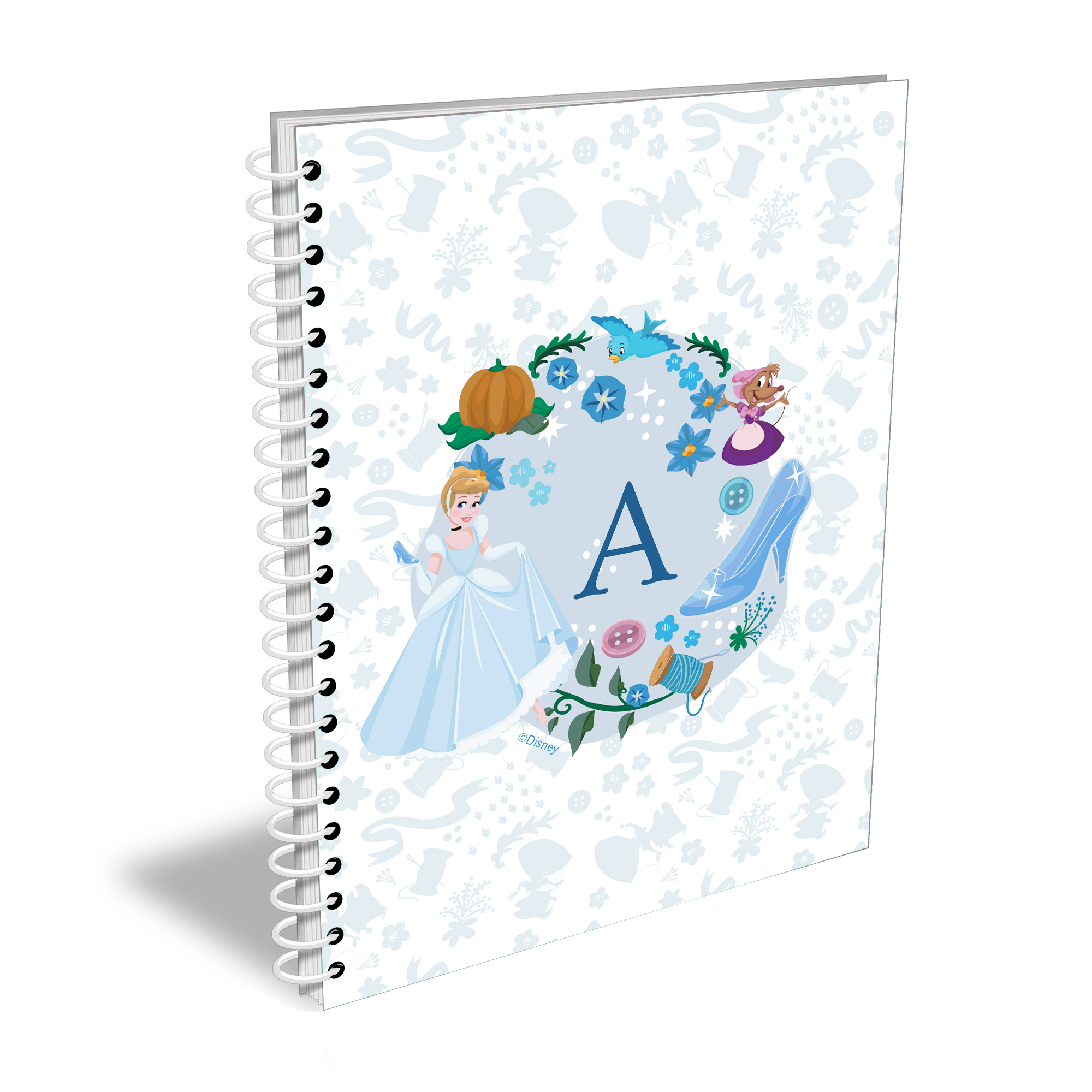 Disney Princess Cinderella Initial A5 Notebook