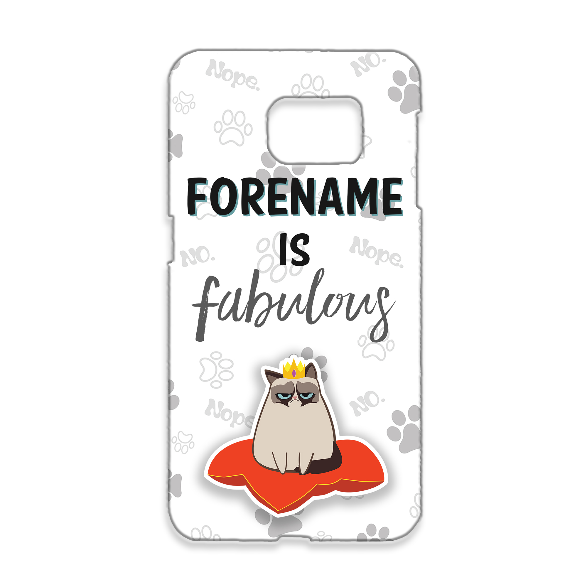 Grumpy Cat Emoji - Fabulous Samsung Case Grey