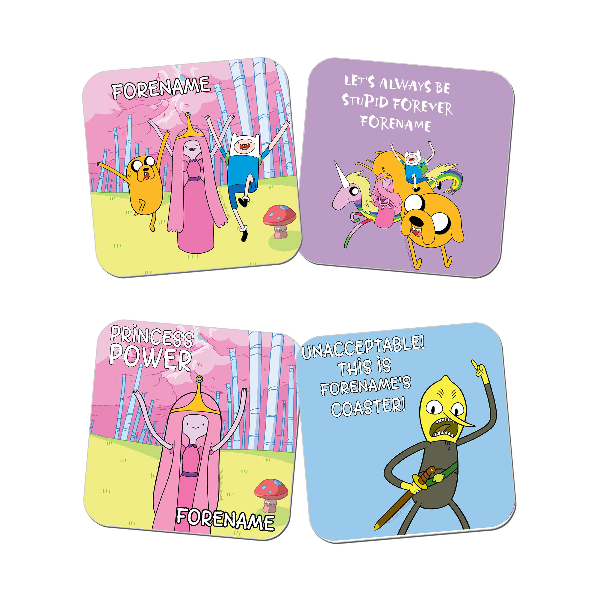 Adventure Time Princess B Coasters 4 Pack