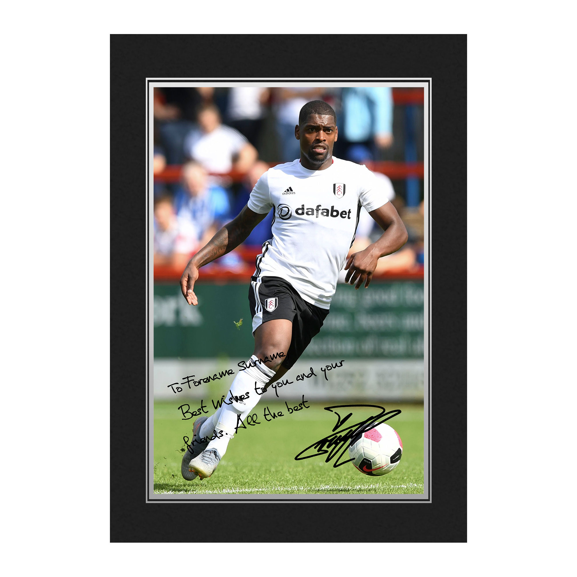 Fulham FC Cavaleiro Autograph Photo Folder
