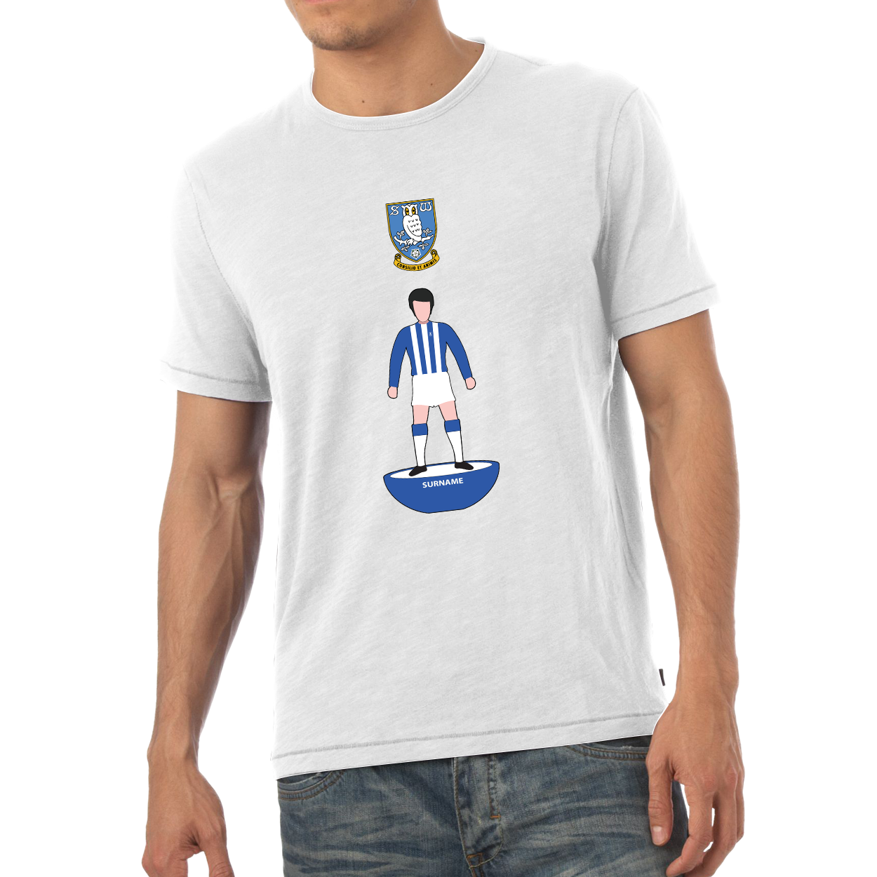 Sheffield Wednesday Player Figure Mens T-Shirt
