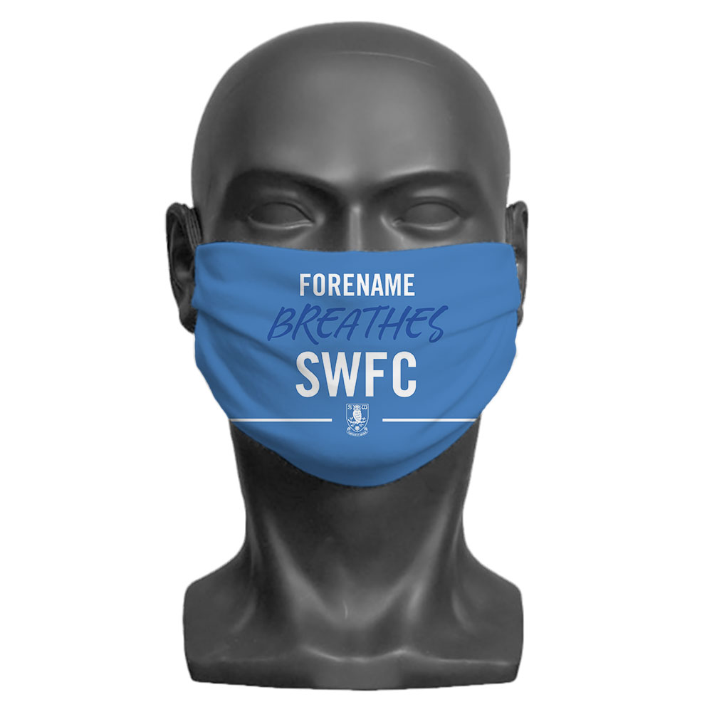 Sheffield Wednesday FC Breathes Adult Face Mask (Large)