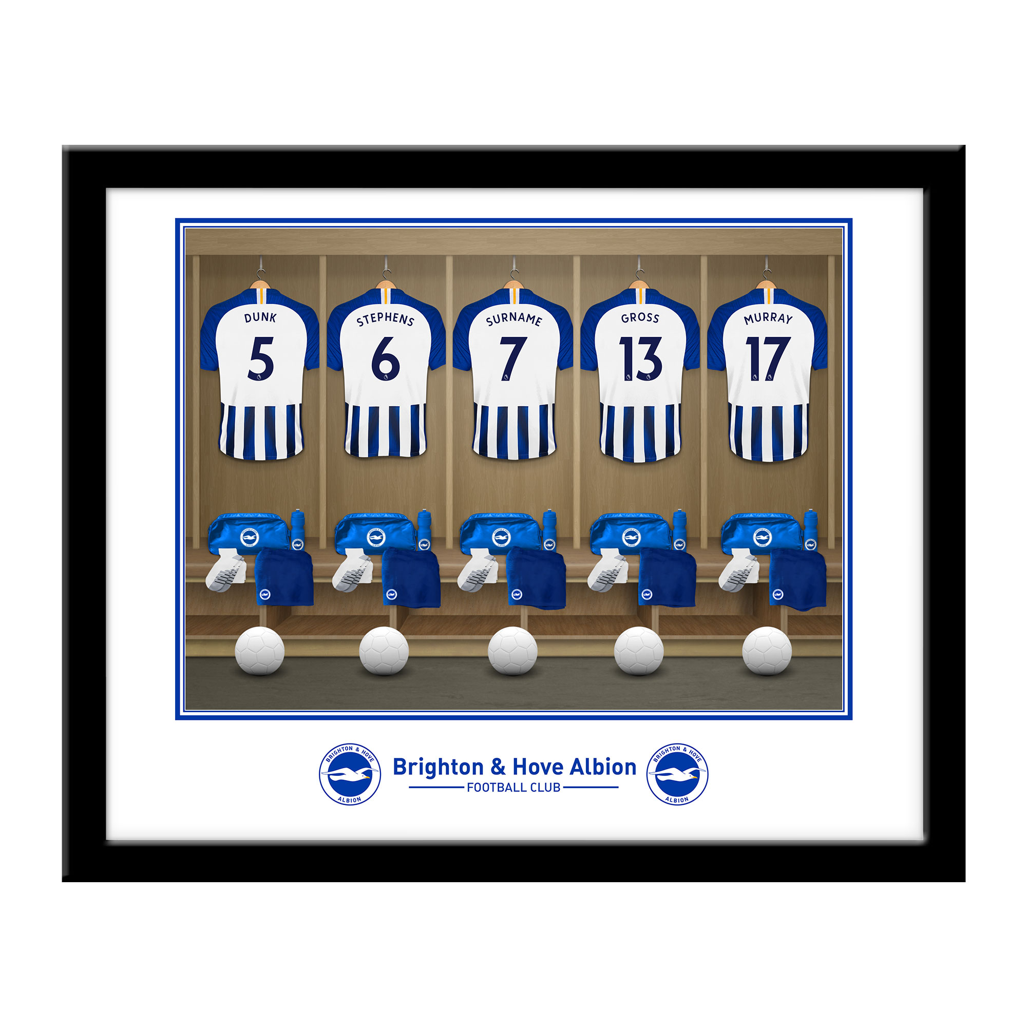 Brighton & Hove Albion FC Dressing Room Framed Print