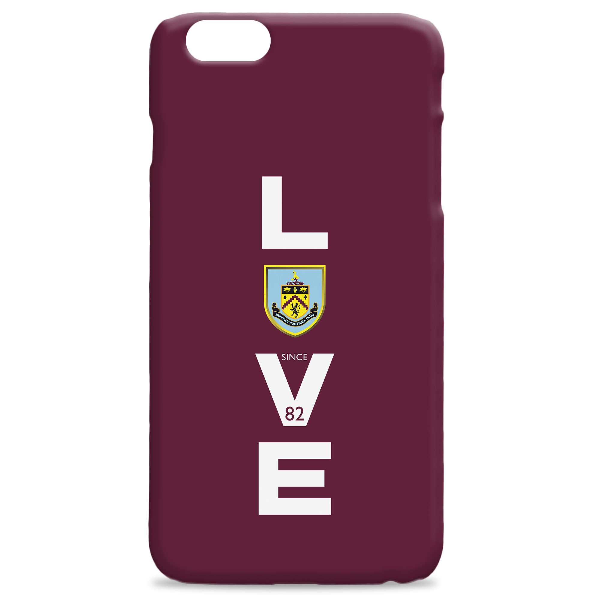 Burnley FC Love Hard Back Phone Case