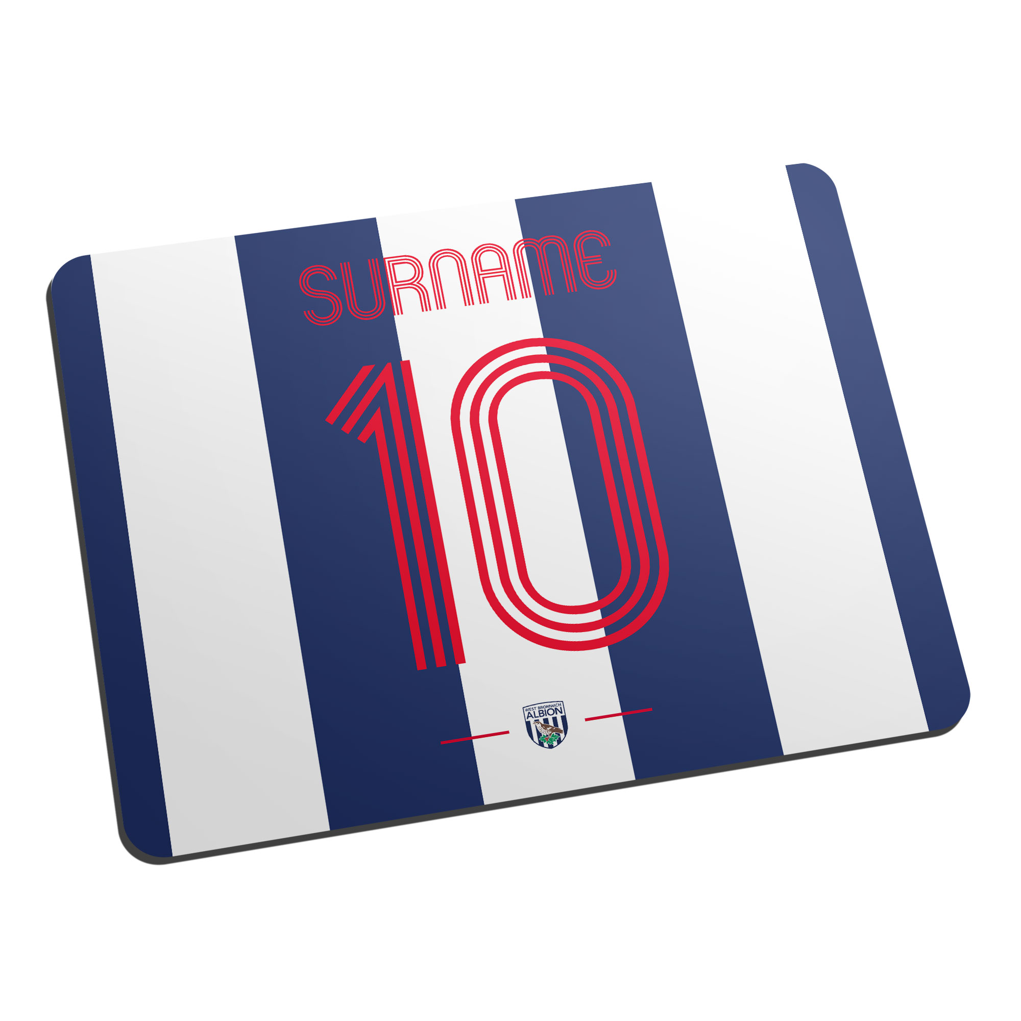 West Bromwich Albion FC Retro Shirt Mouse Mat