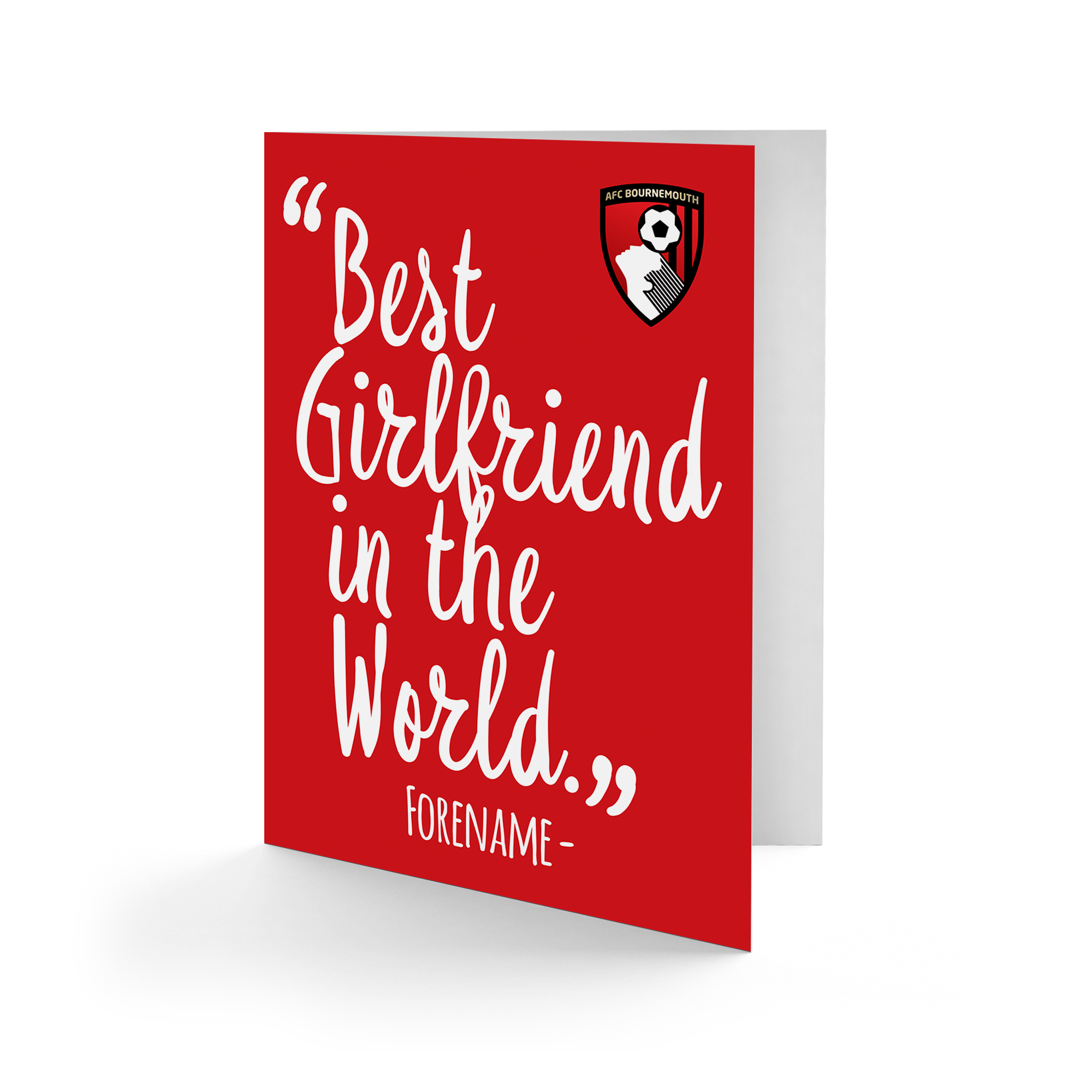 AFC Bournemouth Best Girlfriend In The World Card