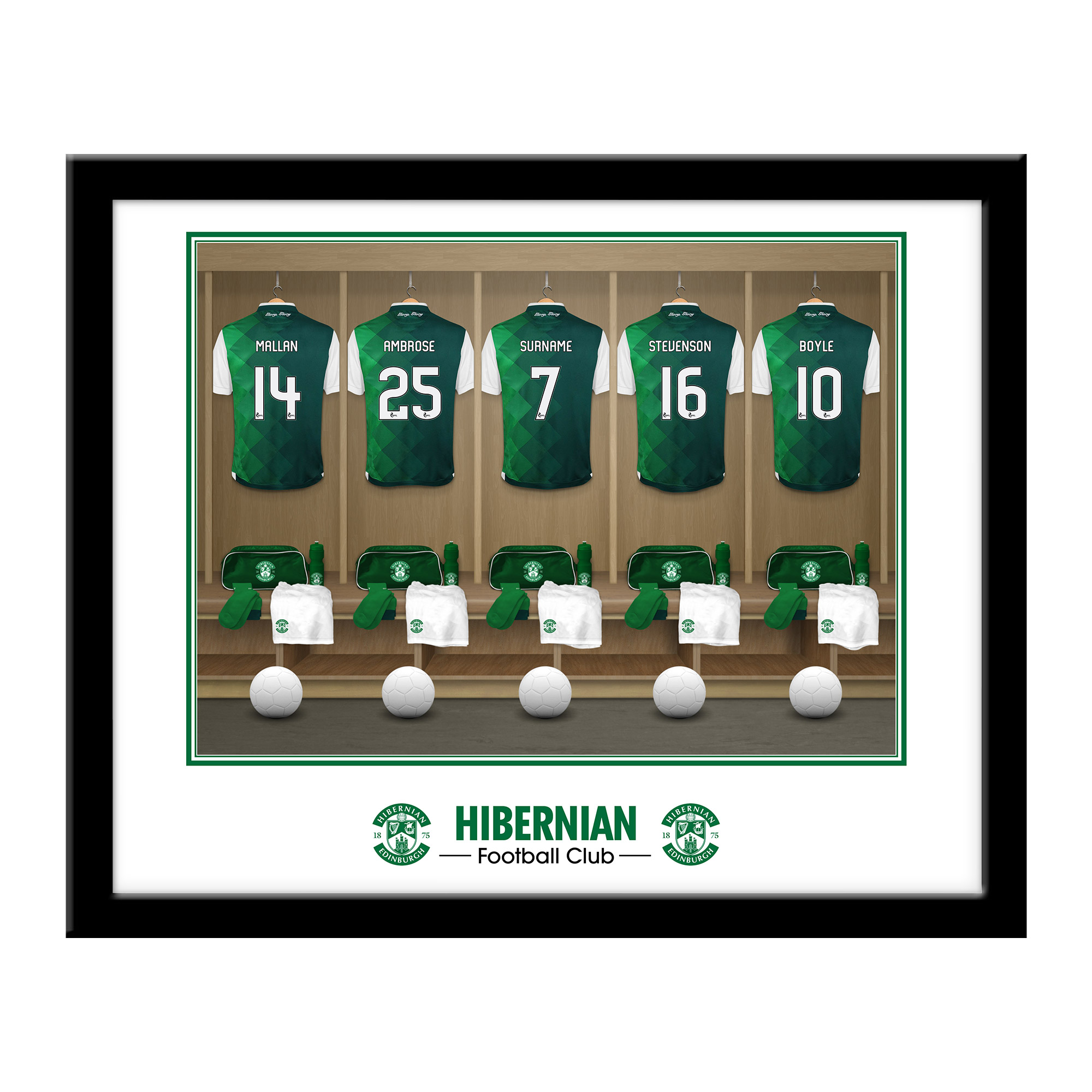 Hibernian FC Dressing Room Framed Print