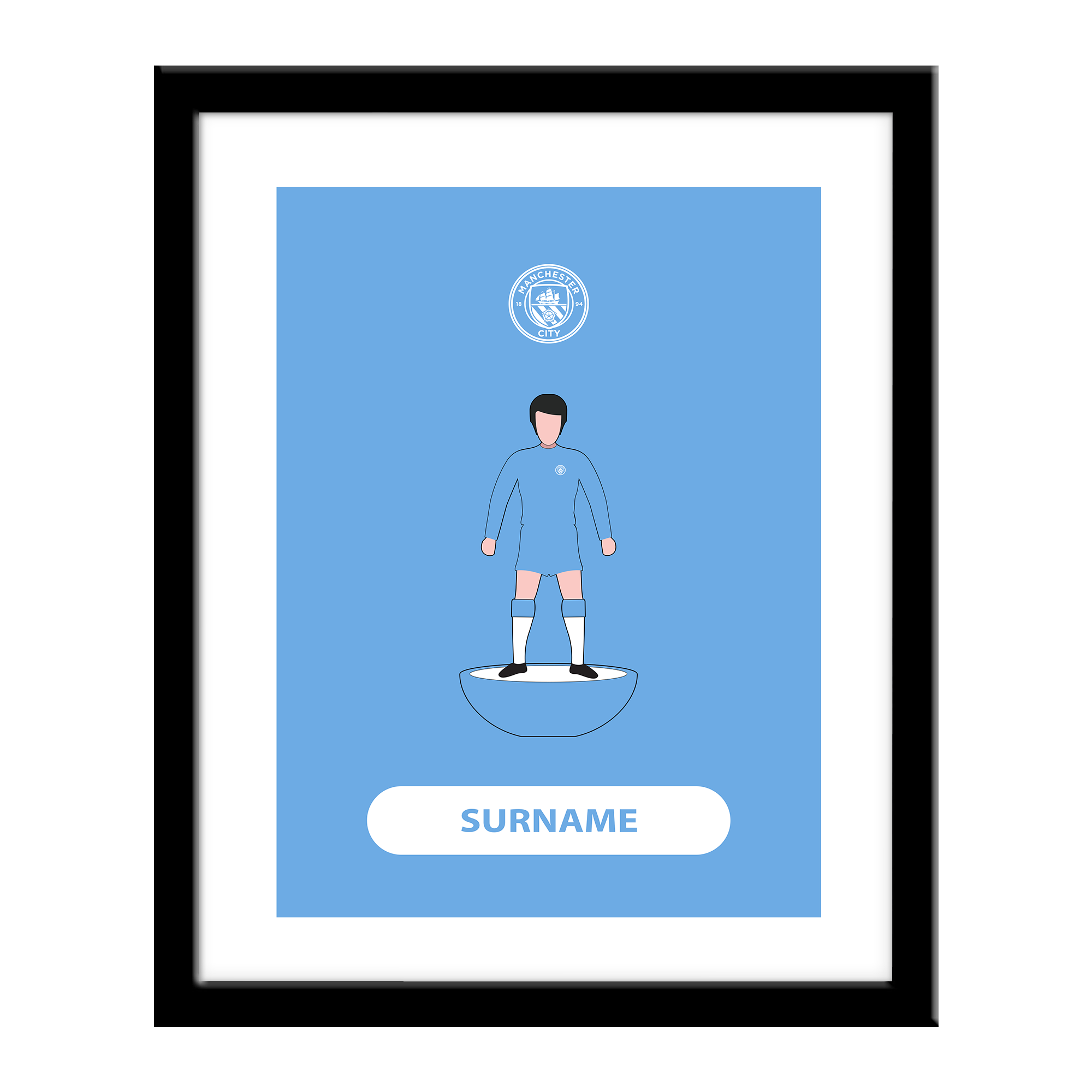 Manchester City FC Player Figure Print