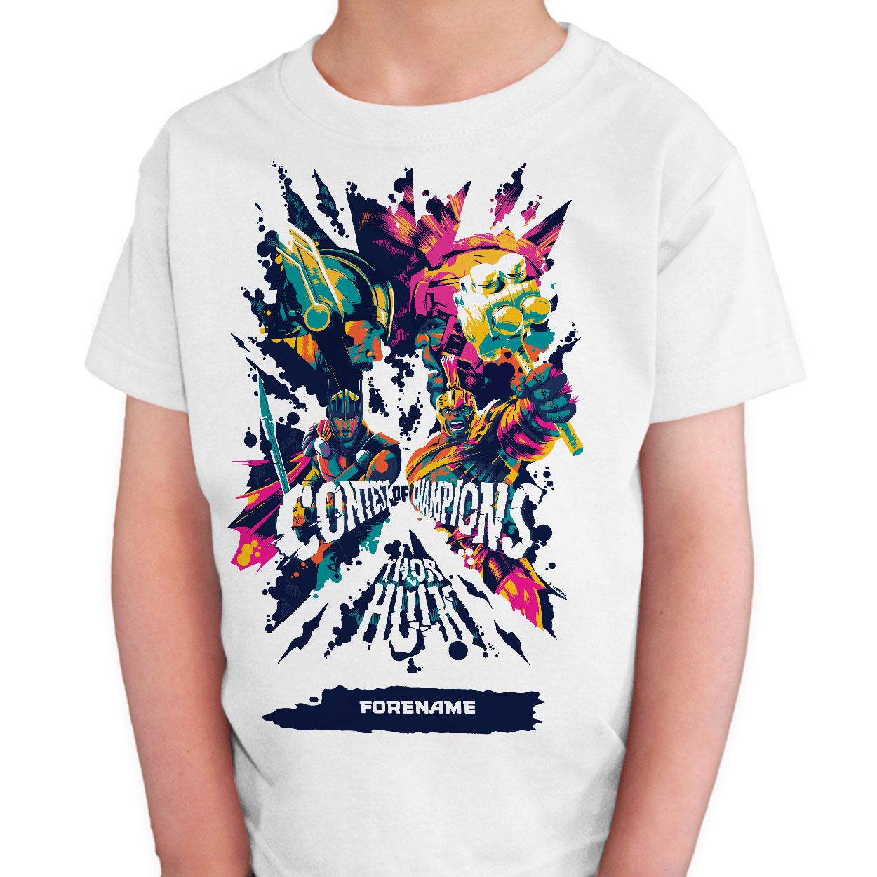 Marvel Thor Ragnarok Colour Badge  Kids T-Shirt