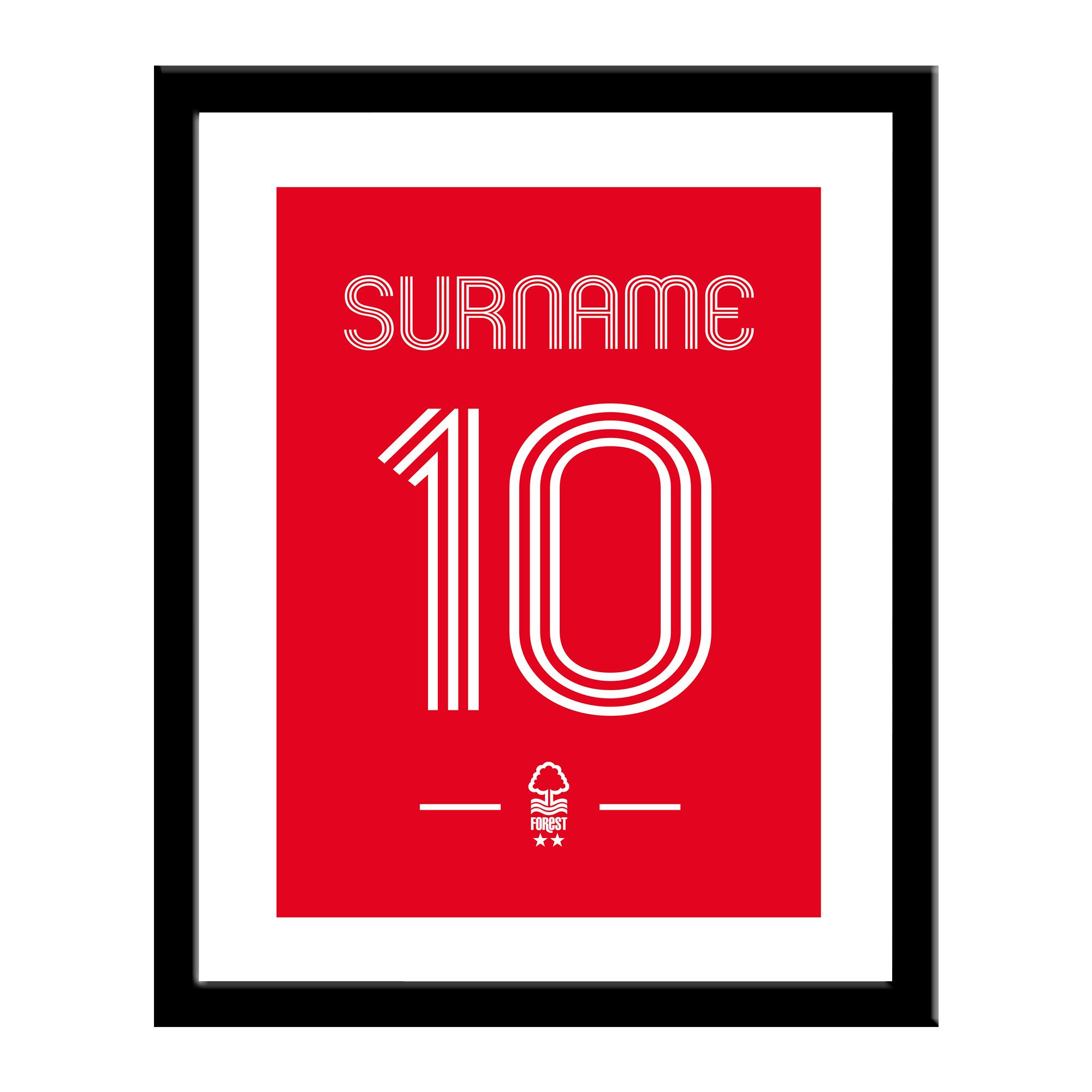 Nottingham Forest FC Retro Shirt Print