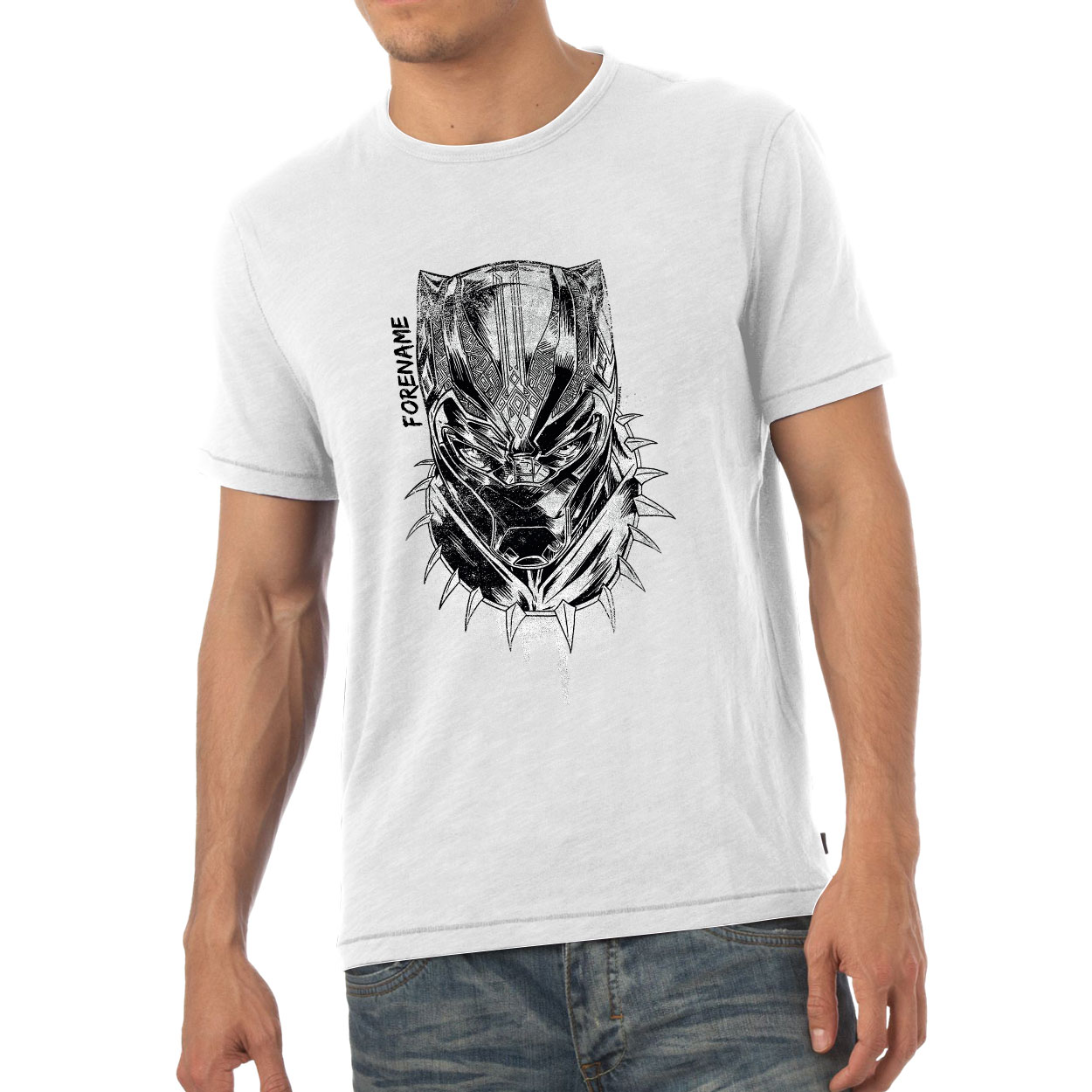 Marvel Black Panther Sketch Mens T-Shirt
