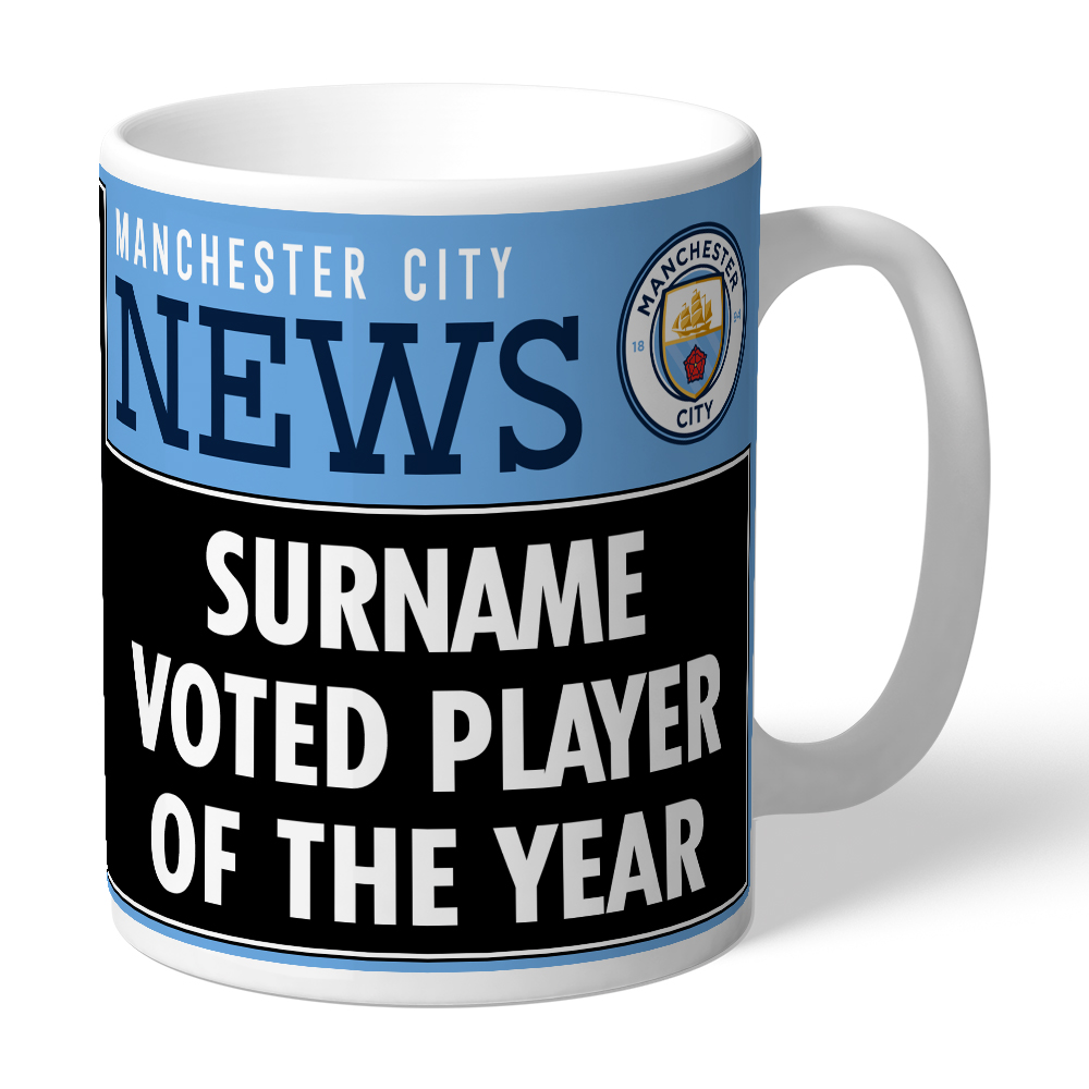 Manchester City FC Player of the Year Mug
