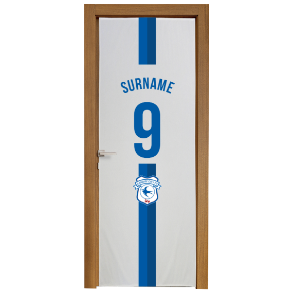 Cardiff City FC Shirt Door Banner
