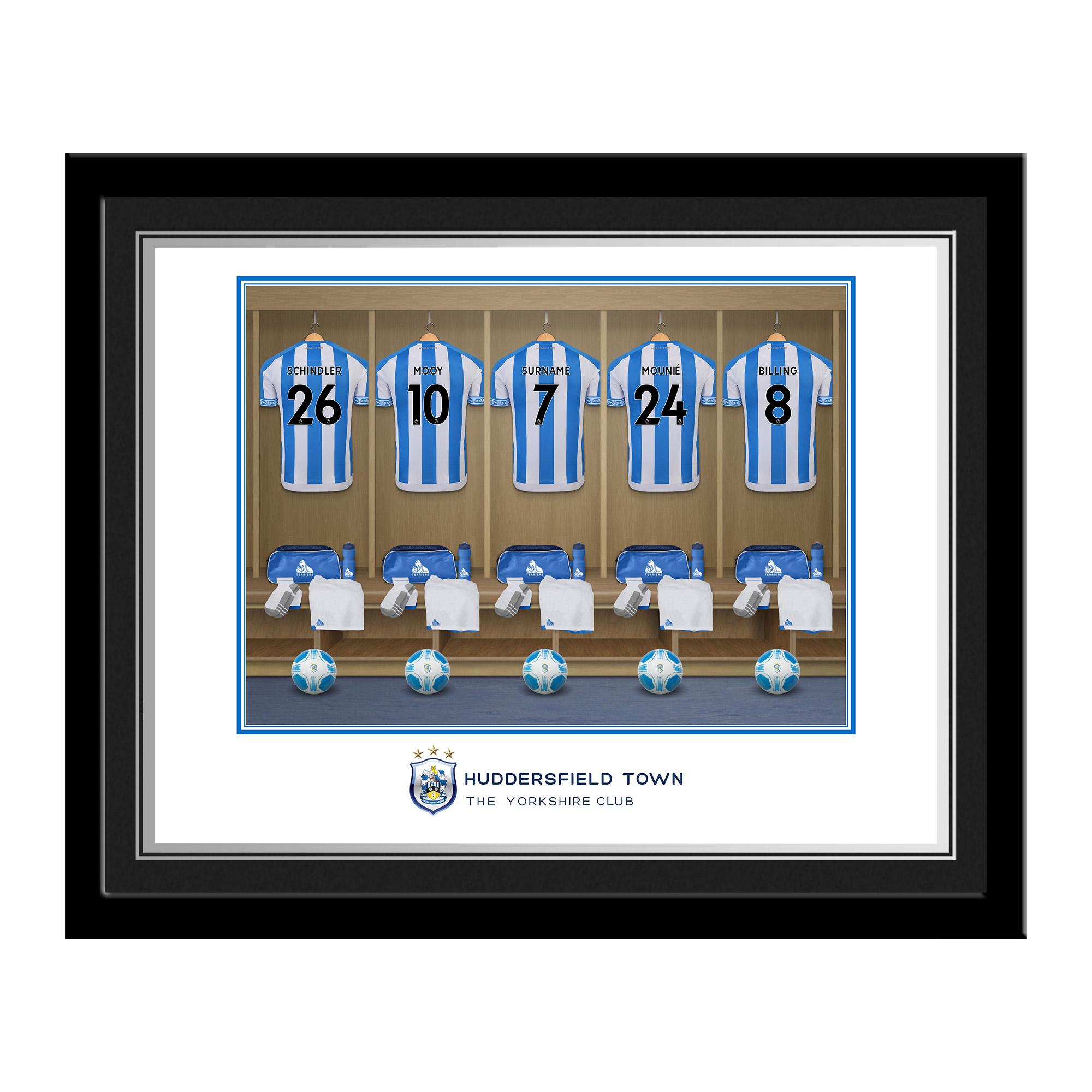 Huddersfield Town AFC Dressing Room Photo Framed