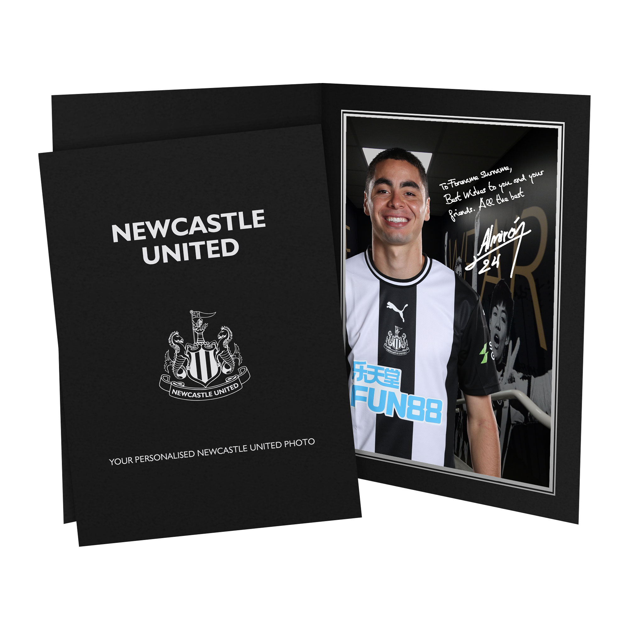 Newcastle United FC Almiron Autograph Photo Folder