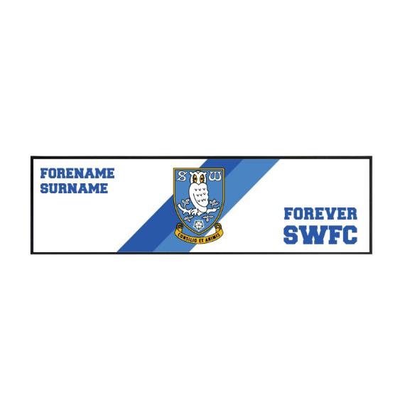 Sheffield Wednesday FC Forever Large Bar Runner