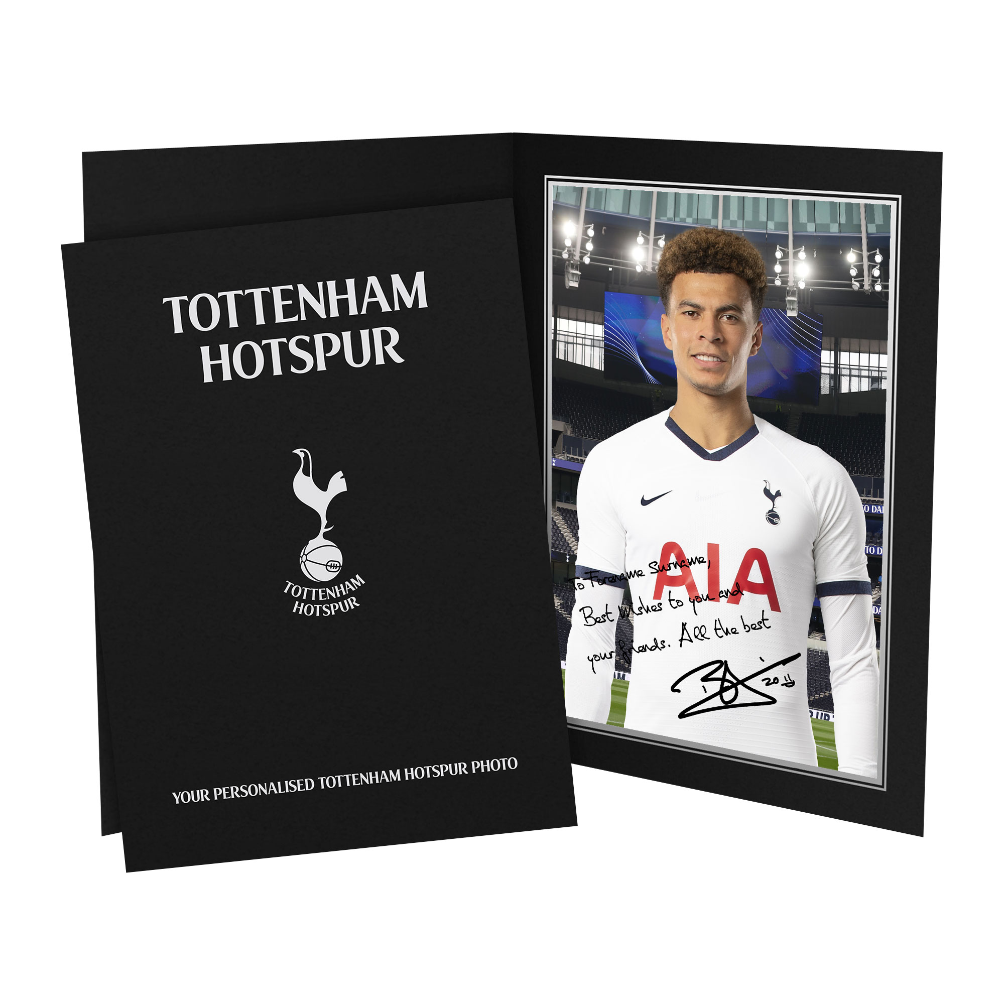 Tottenham Hotspur Alli Autograph Photo Folder