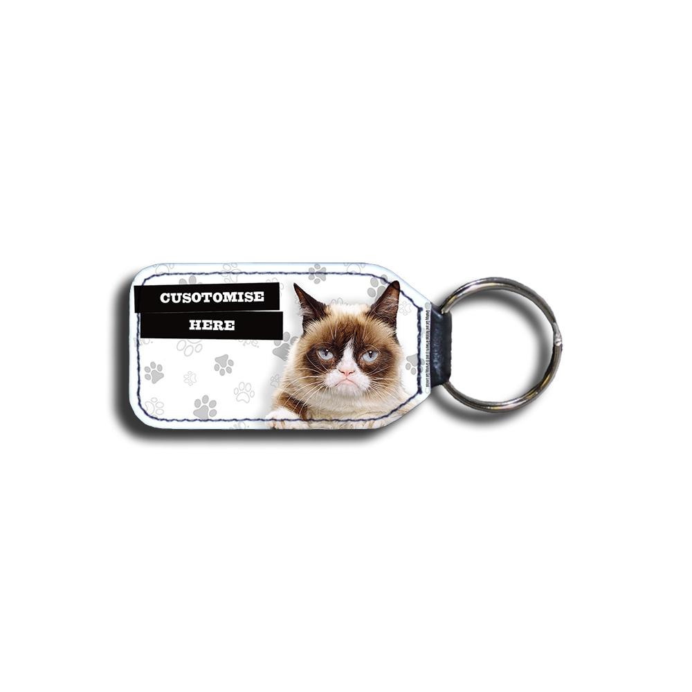 Grumpy Cat - Grumpy Custom Grey Key Ring