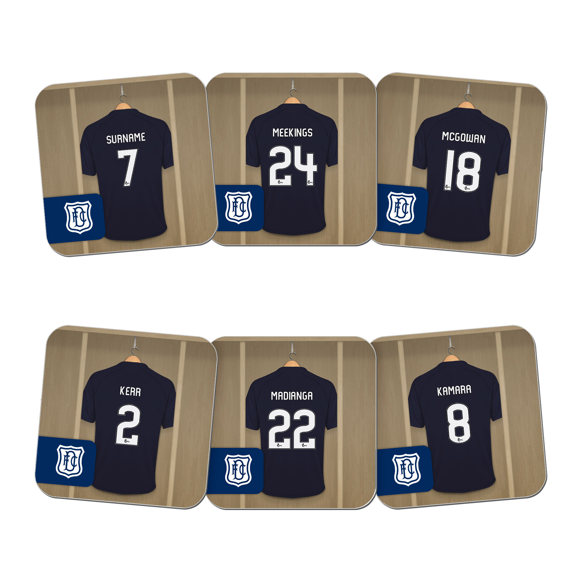 Dundee FC Dressing Room Coasters
