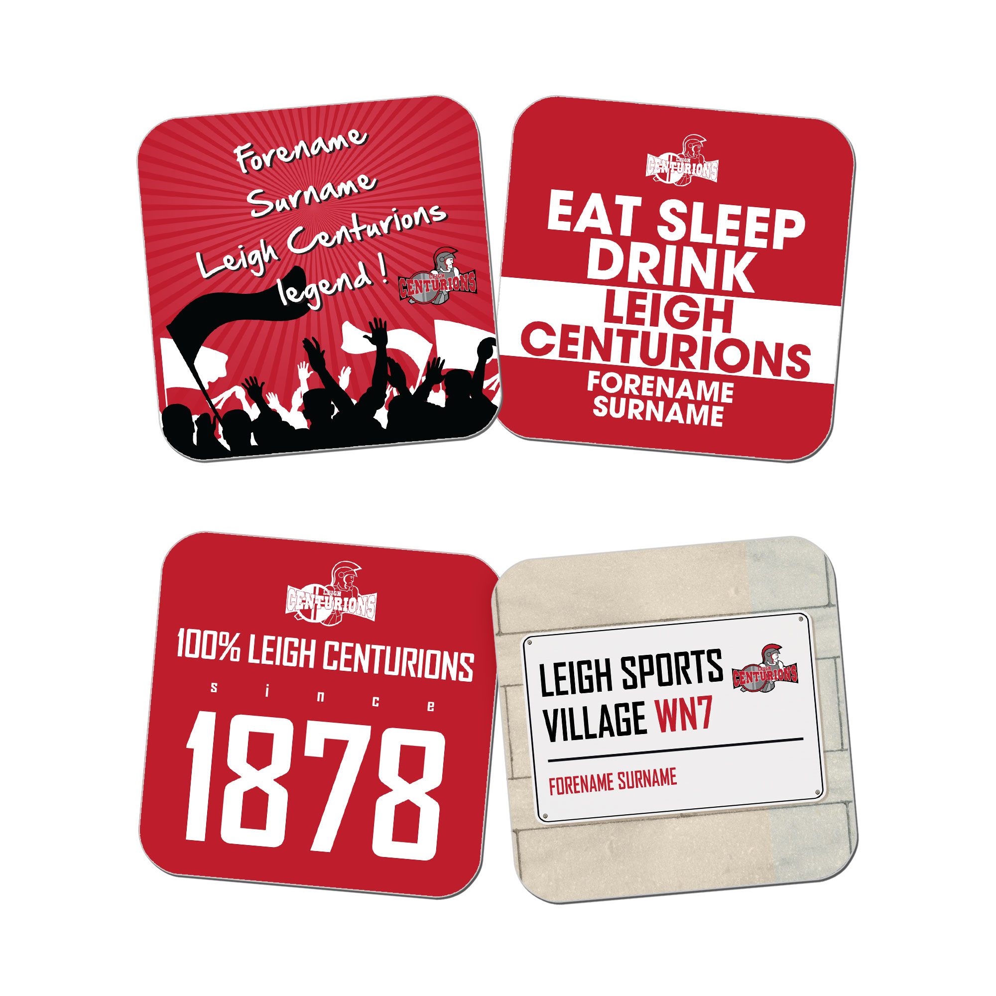 Leigh Centurions Coasters