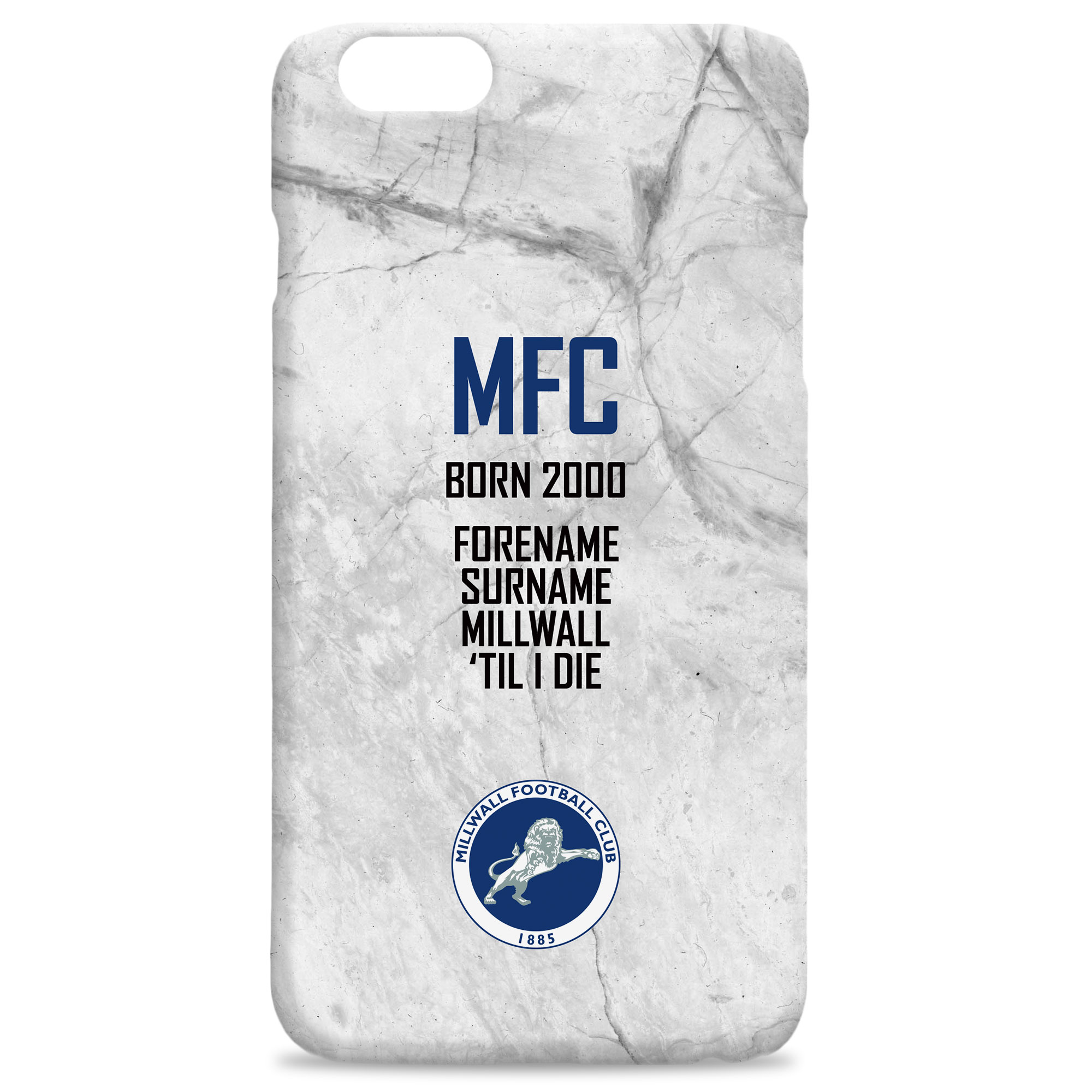 Millwall FC 'Til I Die Hard Back Phone Case