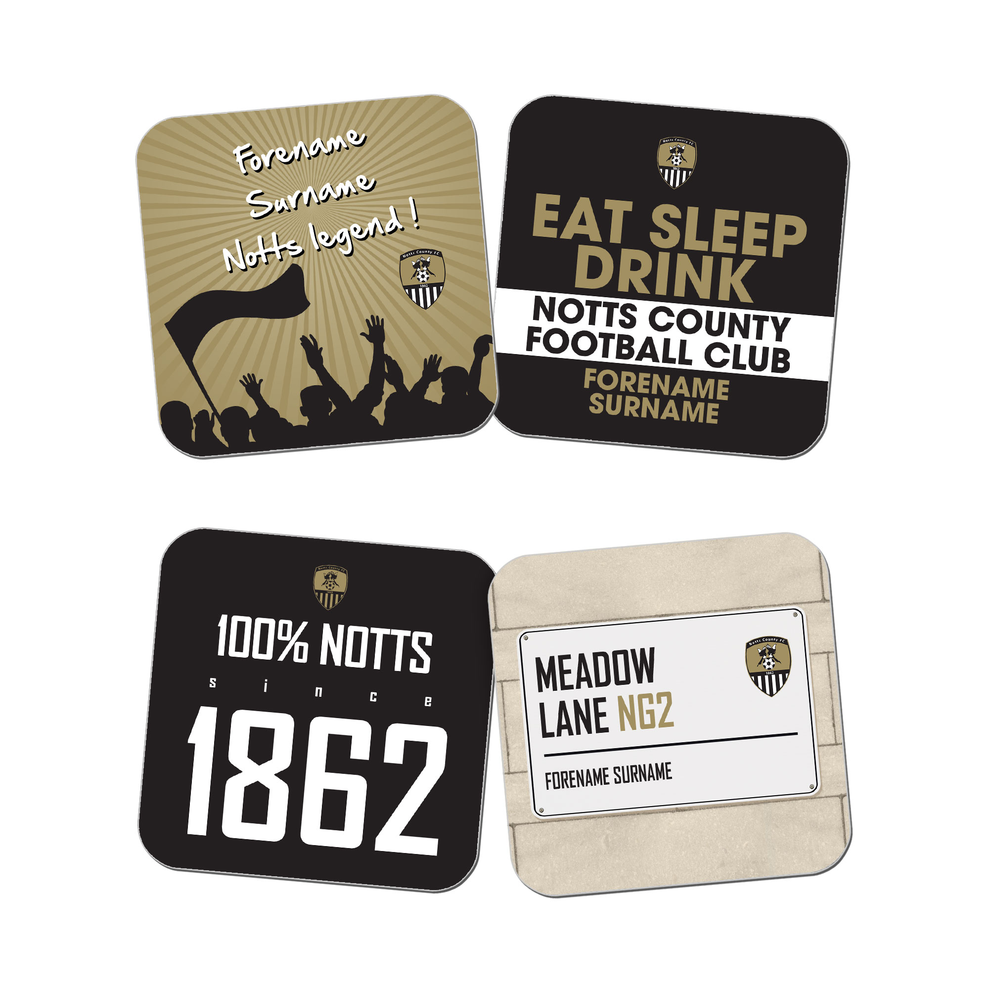 Notts County FC Coasters