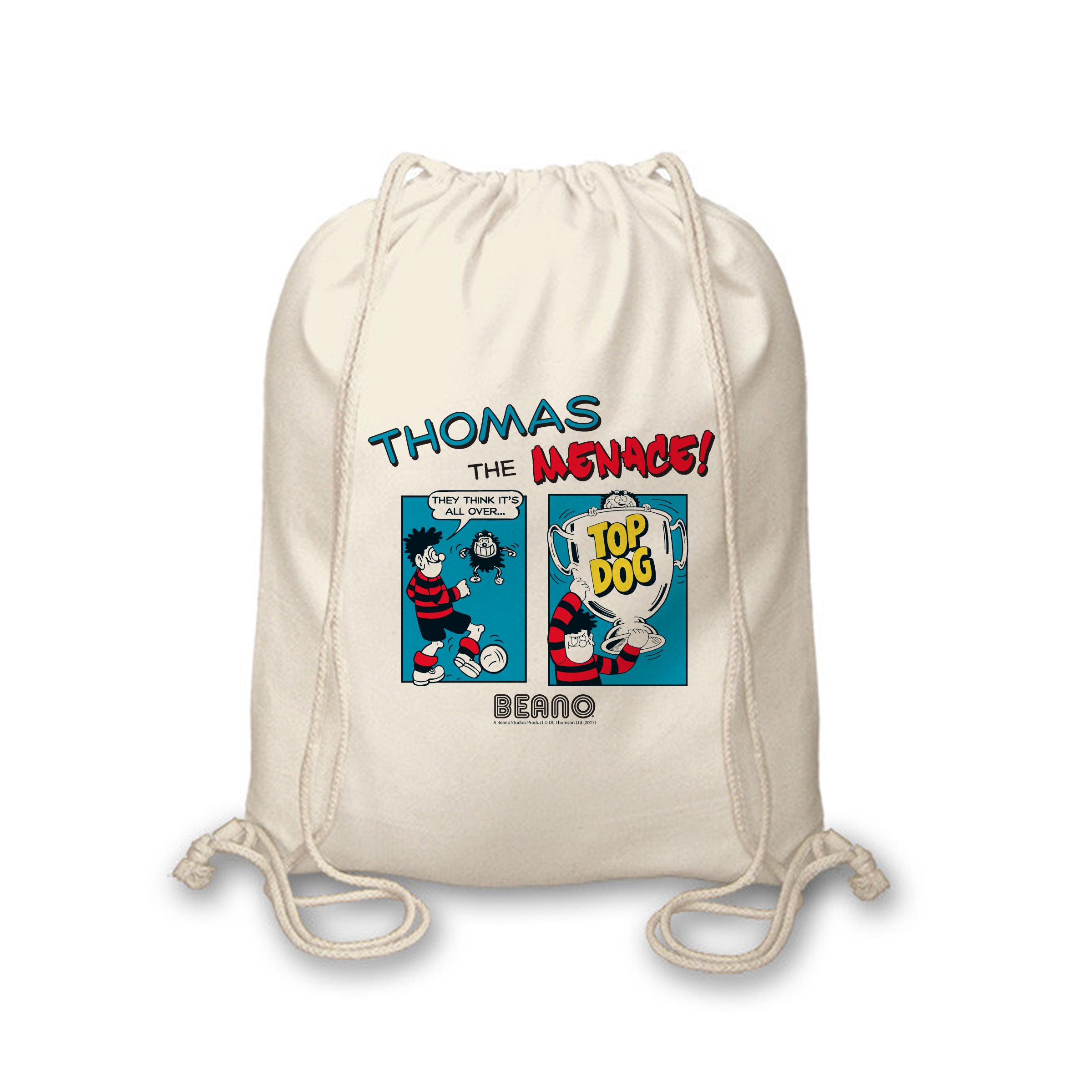 Beano Classic Comic Strip Top Dog Drawstring Bag