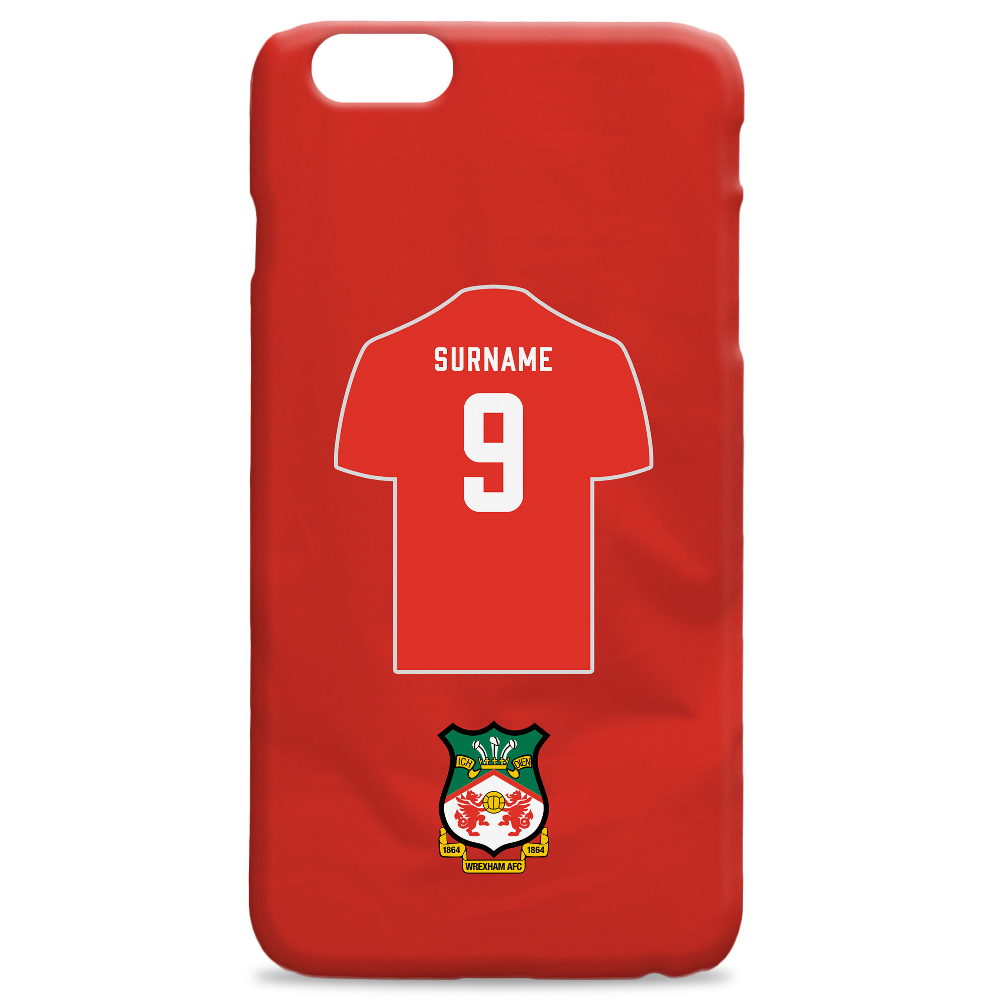 Wrexham AFC Shirt Hard Back Phone Case