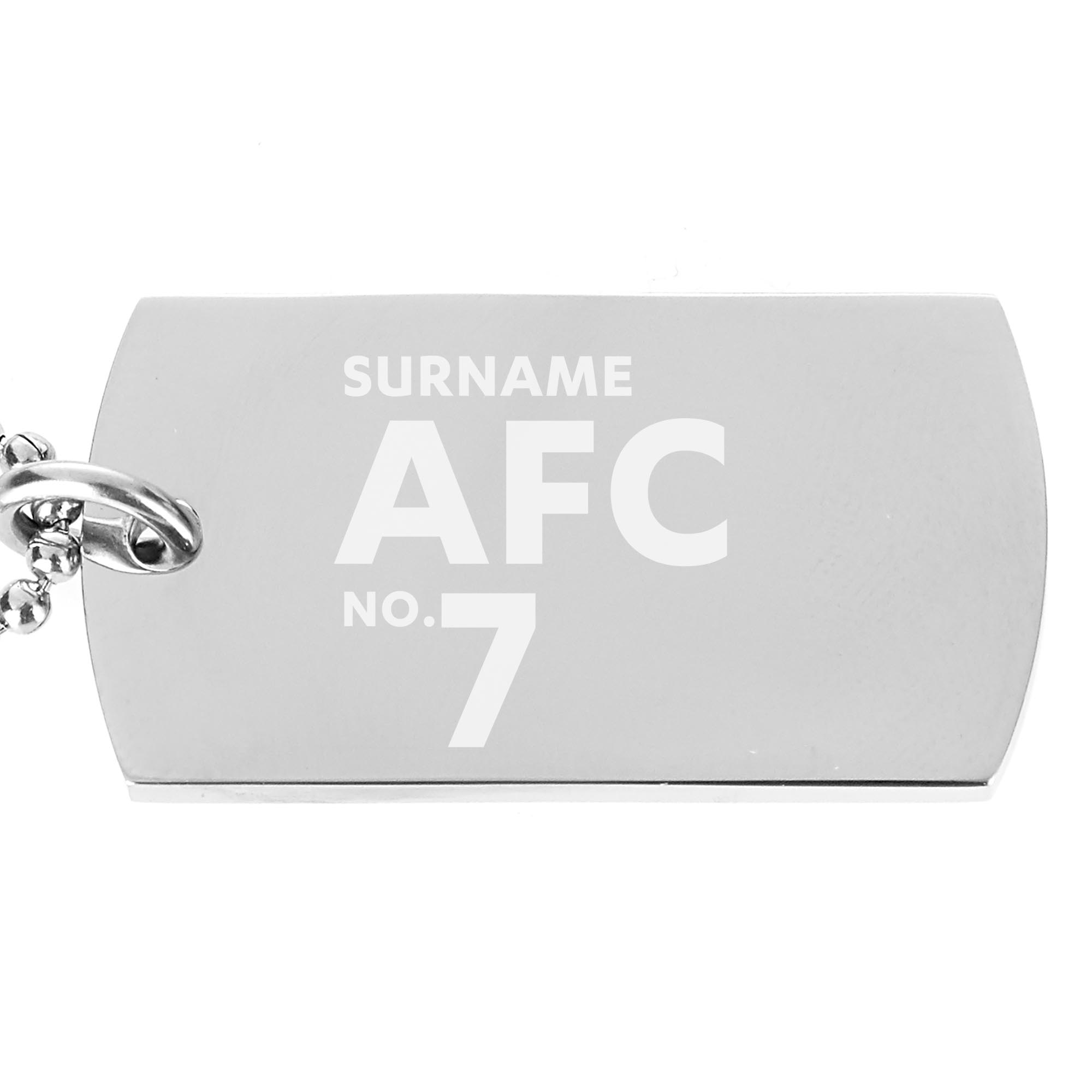 Aberdeen FC Number Dog Tag Pendant