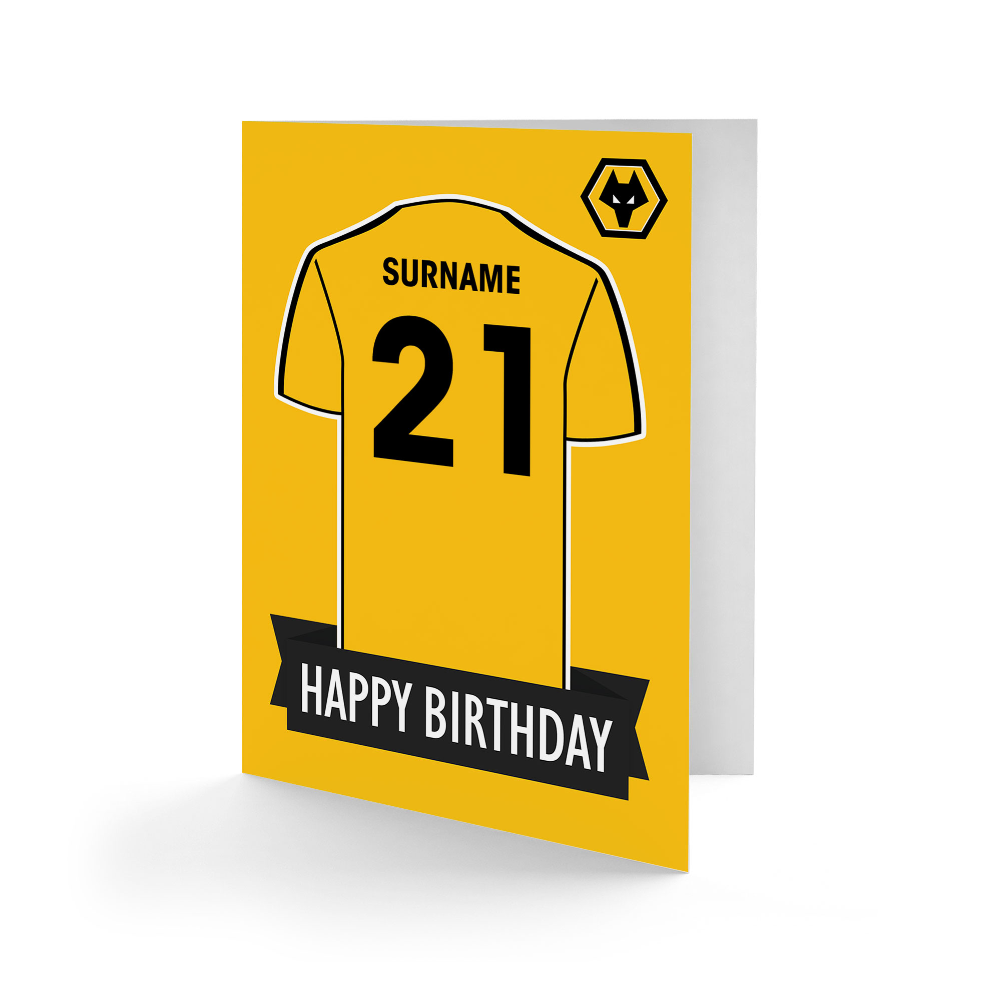 Wolves Shirt Birthday Card
