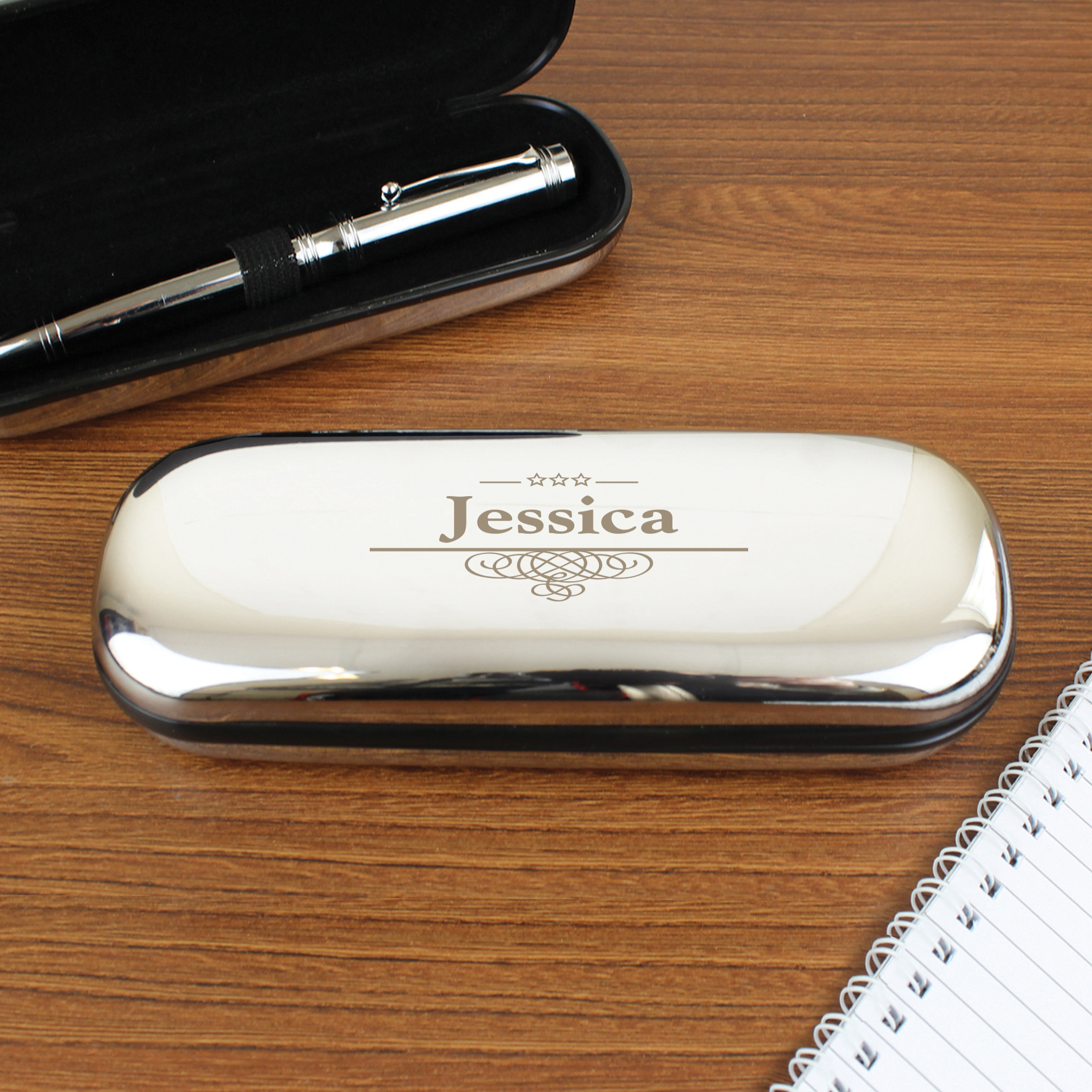 Engraved Decorative Pen and Box Set