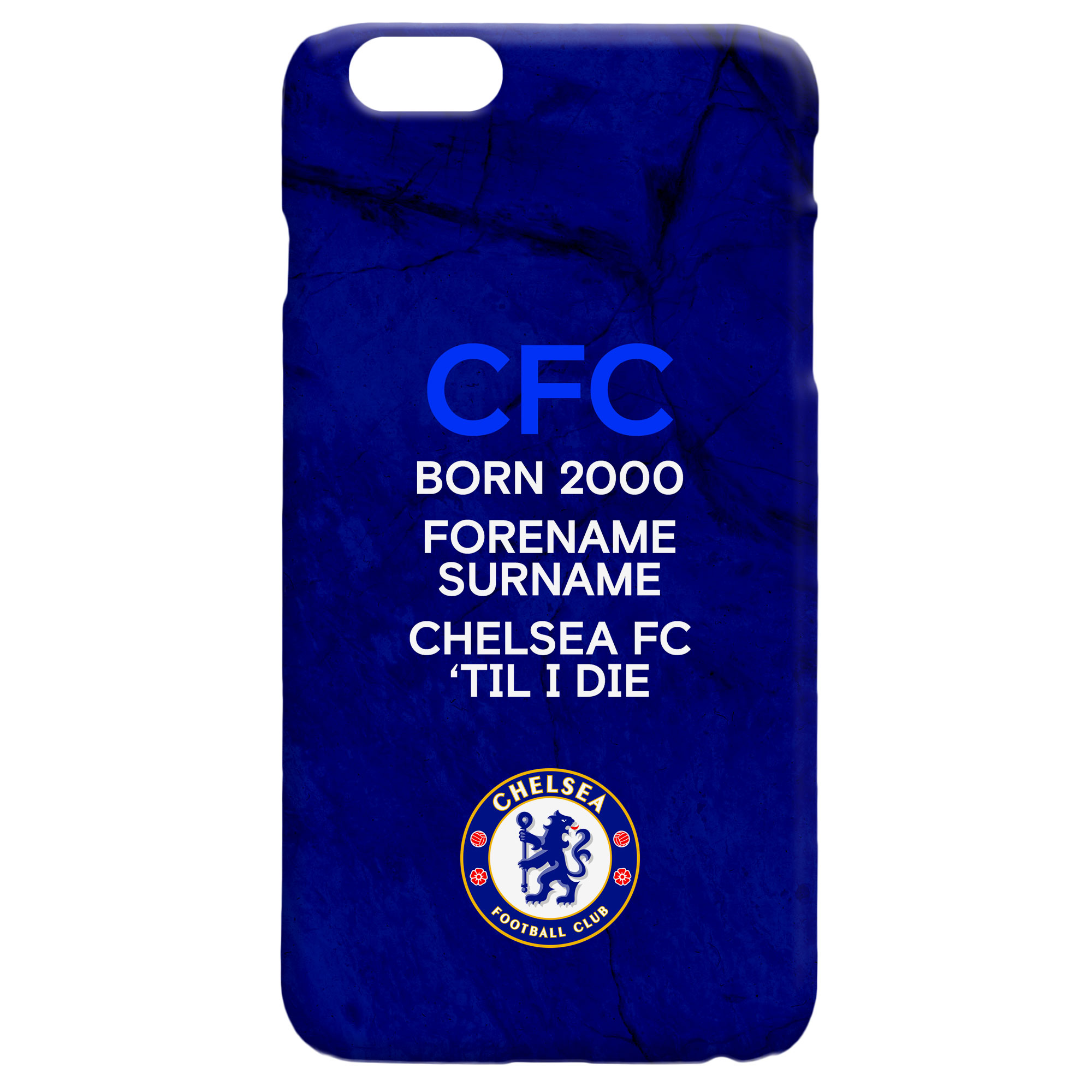 Chelsea FC 'Til I Die Hard Back Phone Case