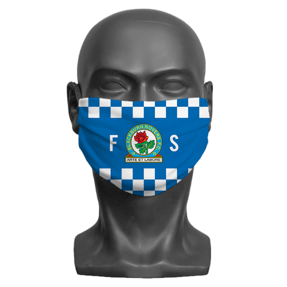 Blackburn Rovers FC Initials Adult Face Mask (Large)