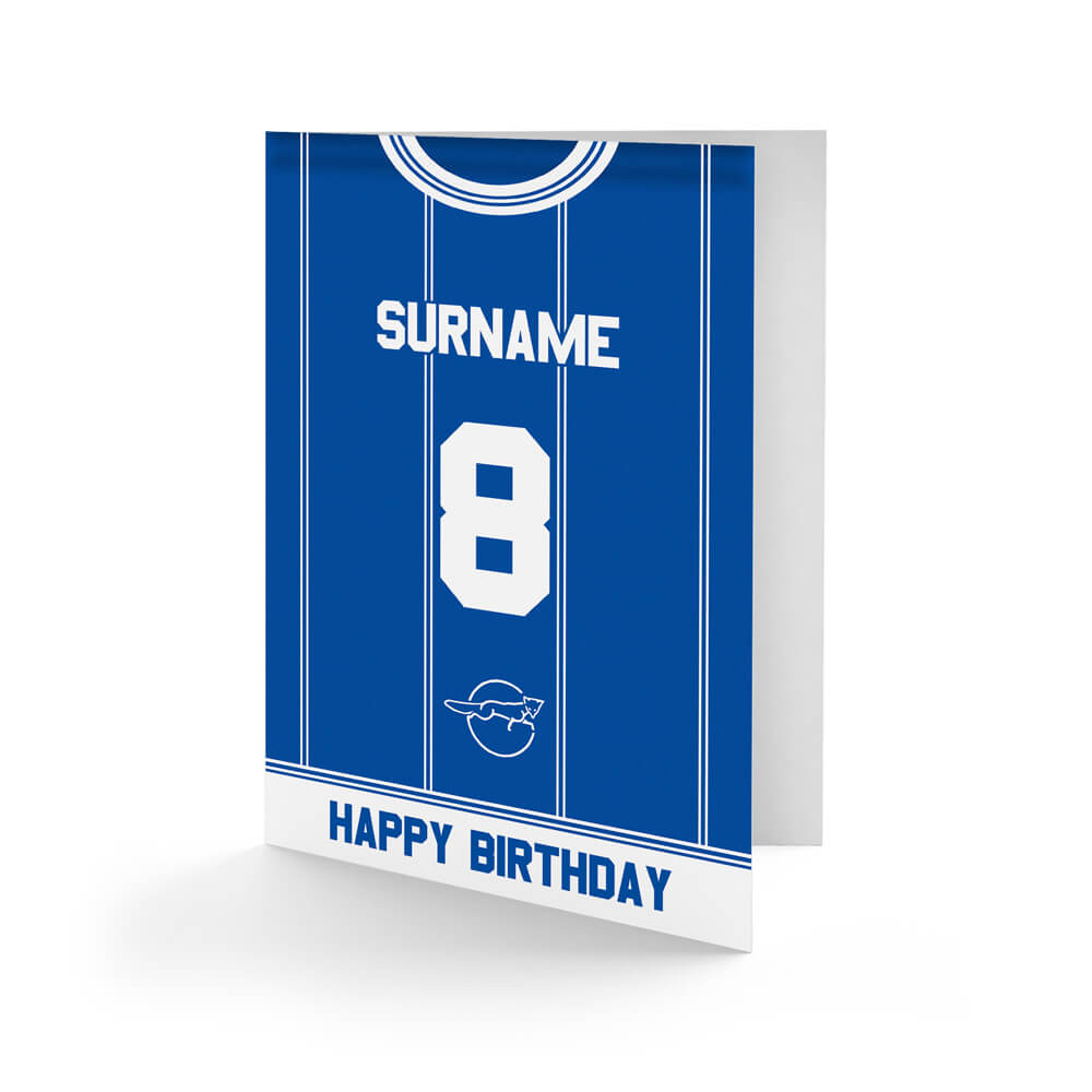 Leicester City FC Retro 83 Kit Birthday Card