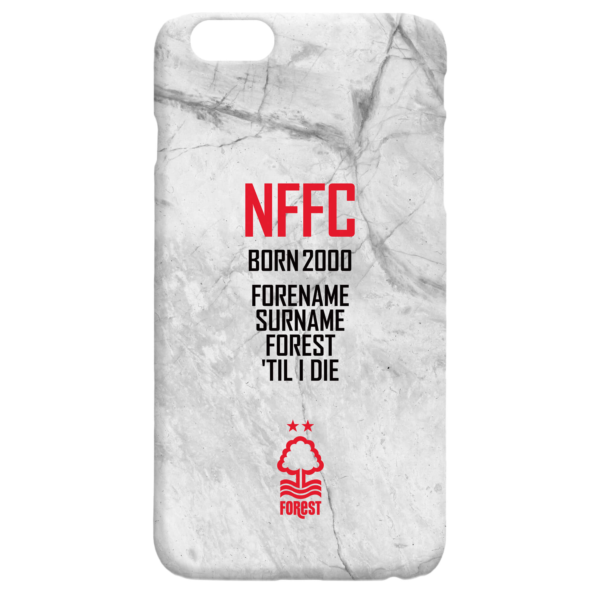 Nottingham Forest FC 'Til I Die Hard Back Phone Case