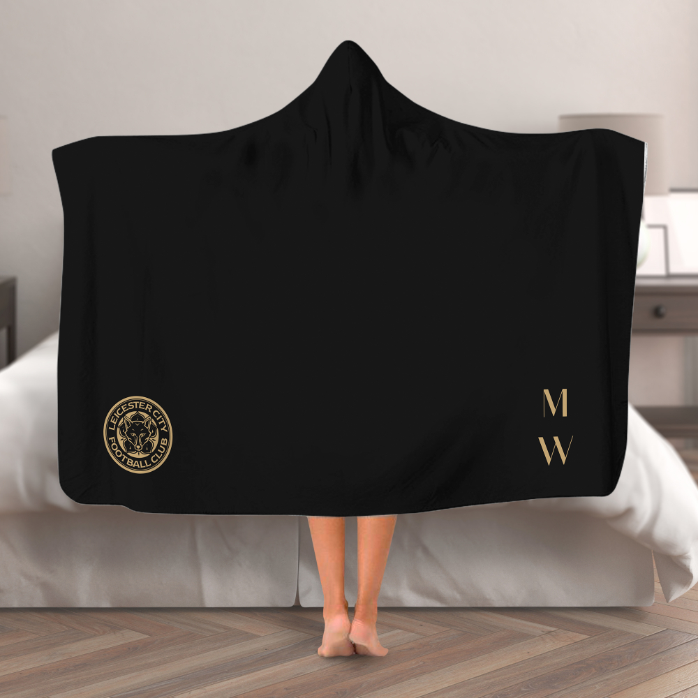 Leicester City FC Initials Hooded Blanket (Adult)