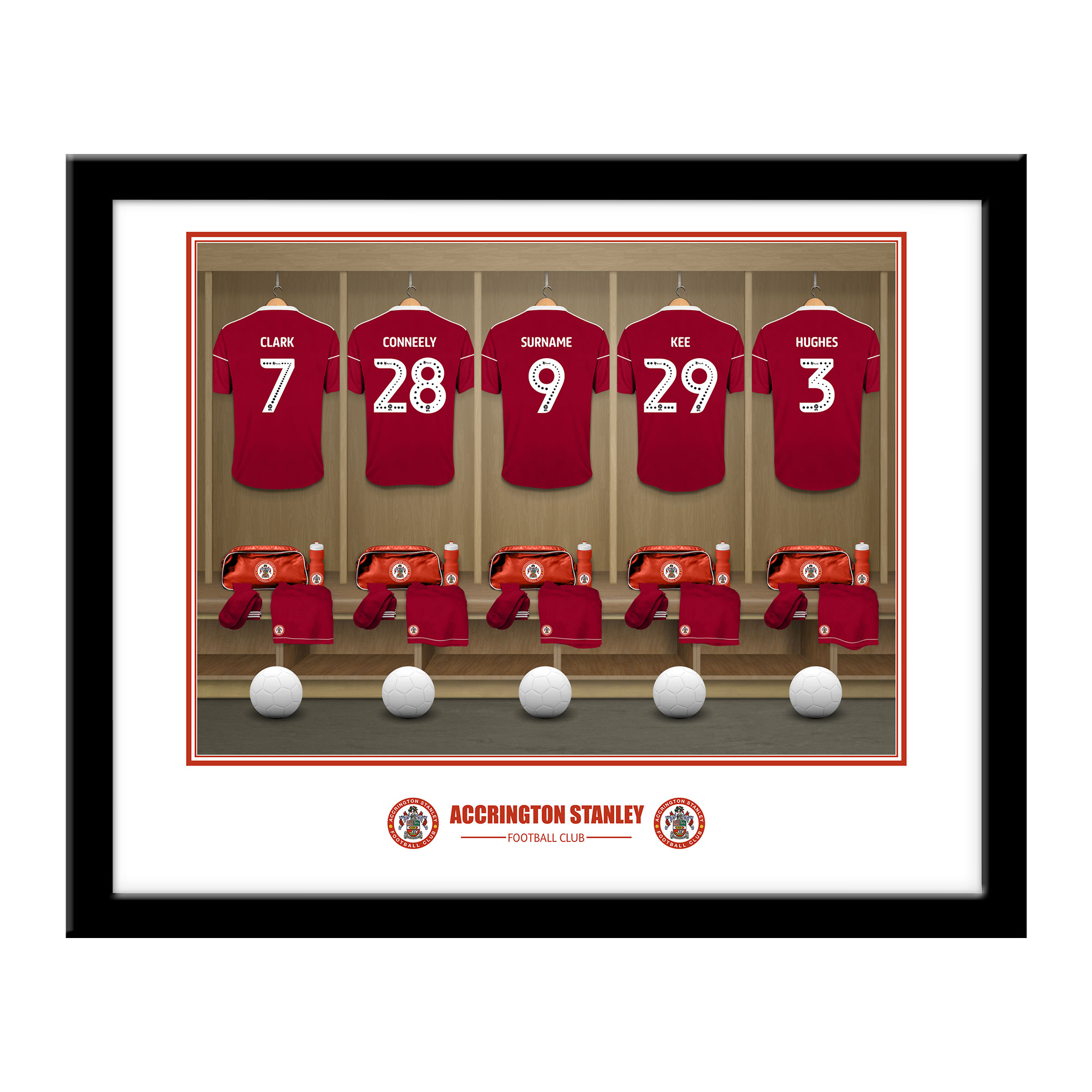 Accrington Stanley FC Dressing Room Framed Print