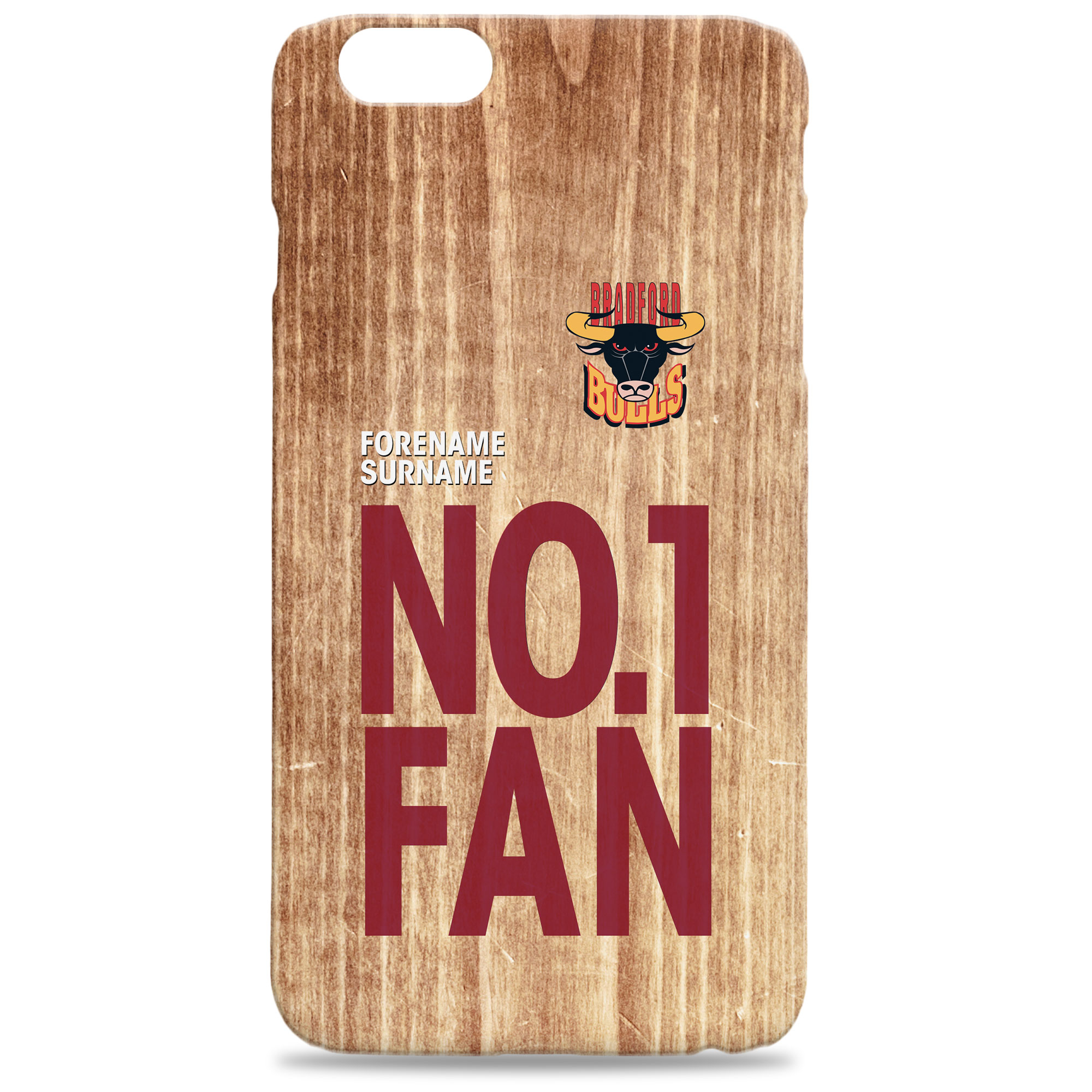 Bradford Bulls No 1 Fan Hard Back Phone Case