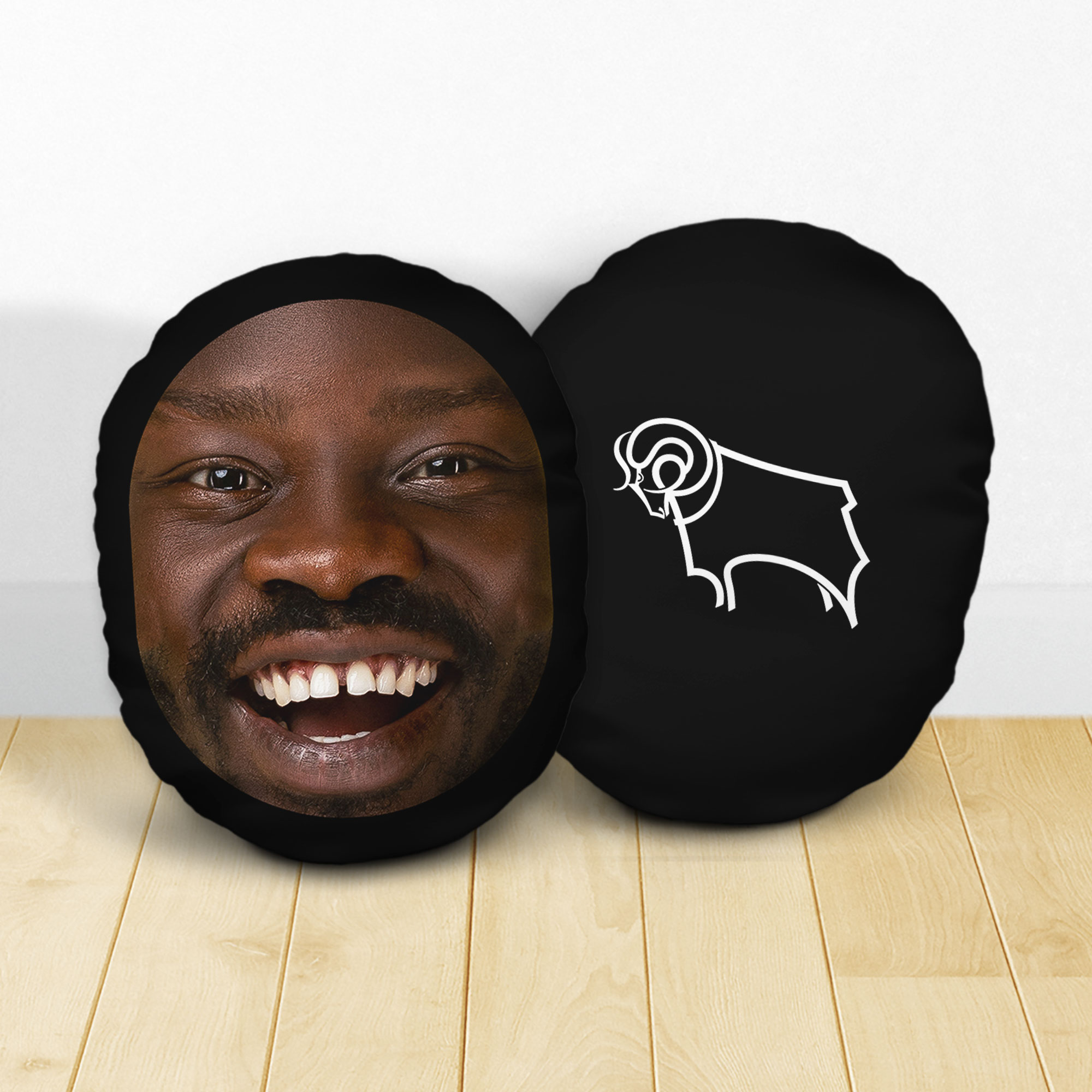 Personalised Derby County Crest Mush Cush
