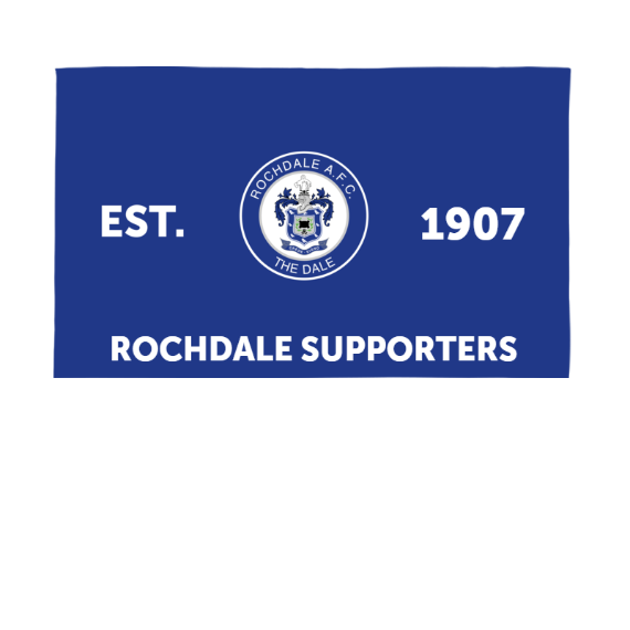 Rochdale AFC Supporters 5ft x 3ft Banner