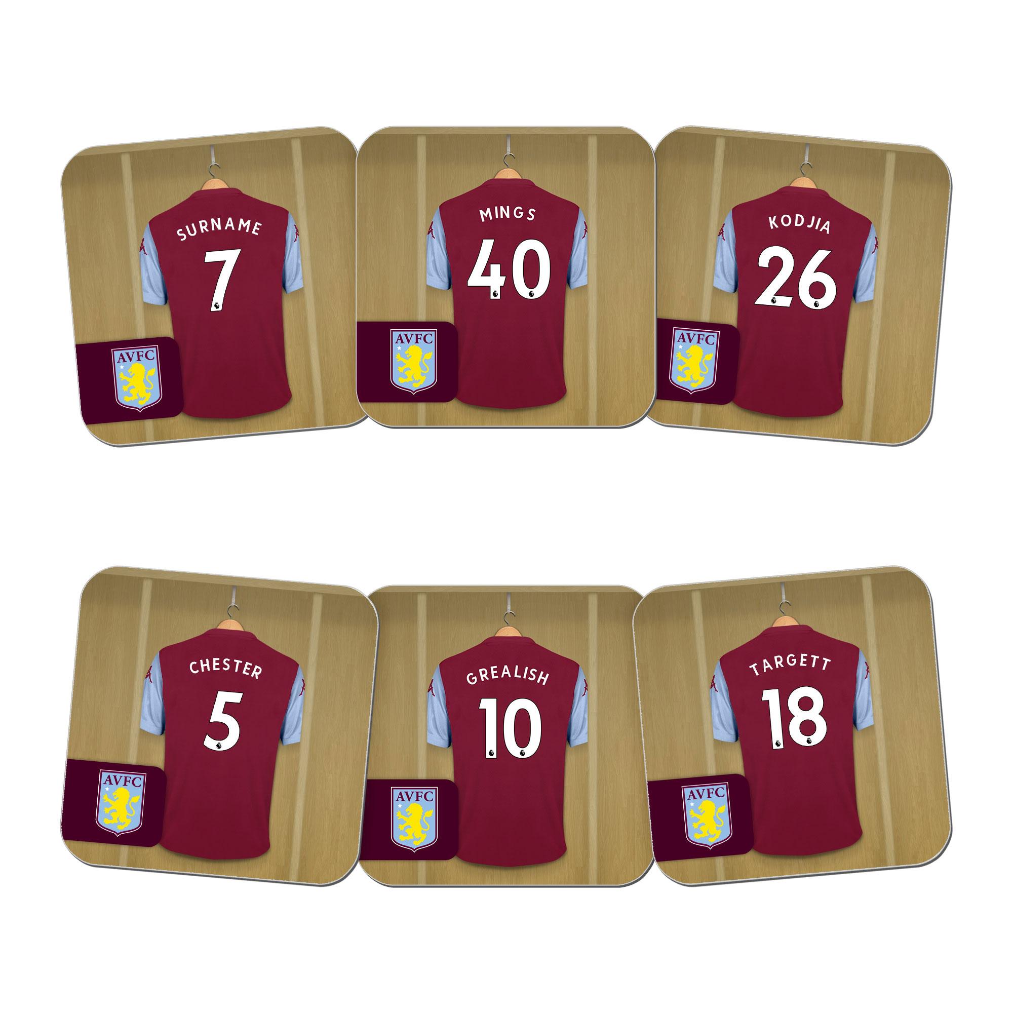 Aston Villa FC Dressing Room Coasters
